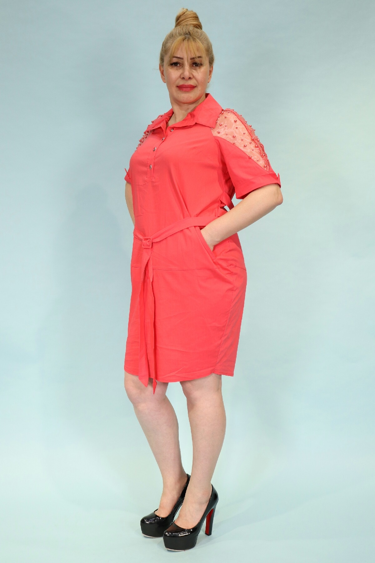 Day Dresses Medium-Coral