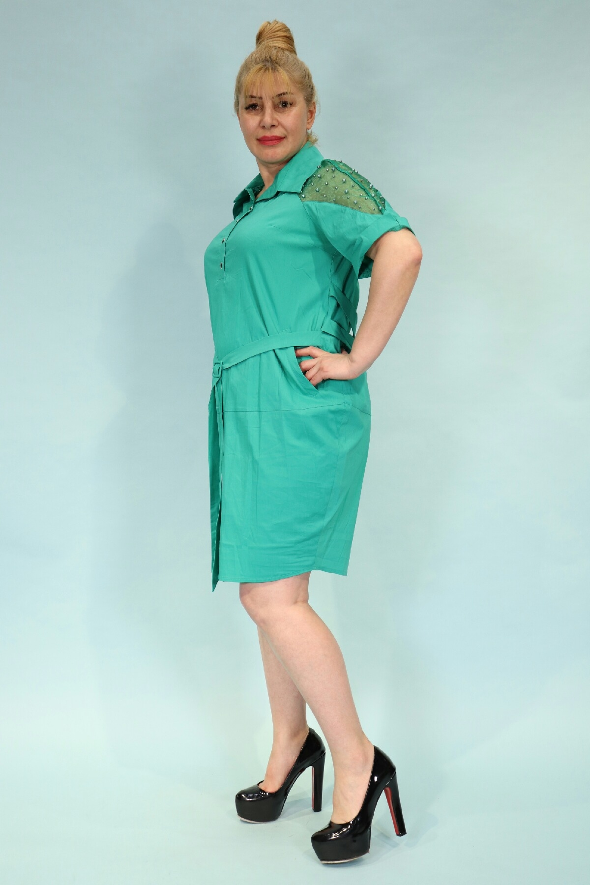 Day Dresses Medium-Light green