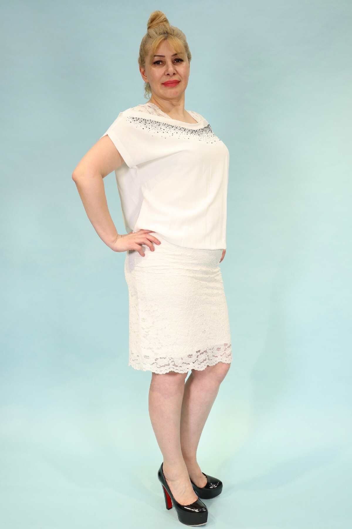 Day Dresses Medium-White