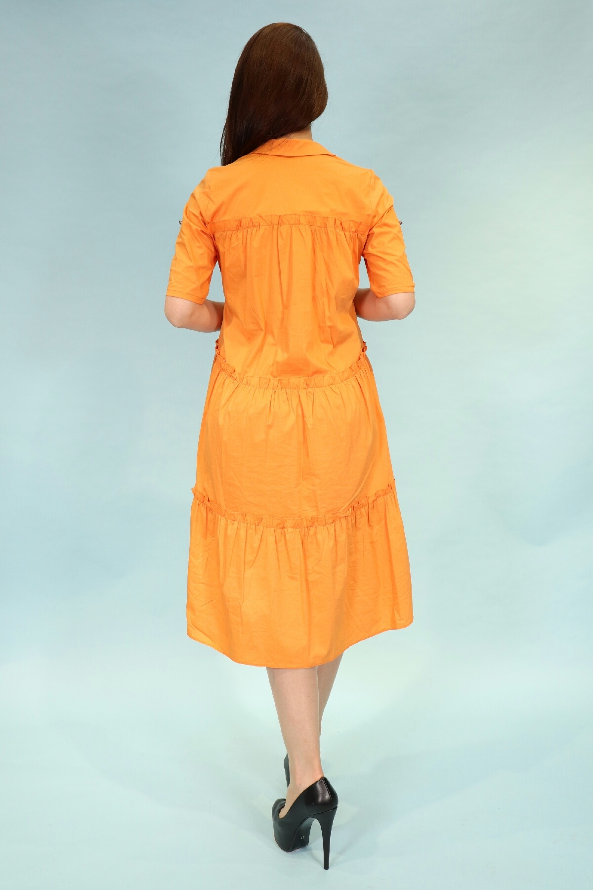 Day Dresses Medium-Orange