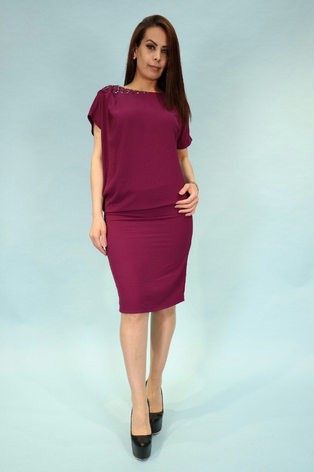 Day Dresses Medium-Purple
