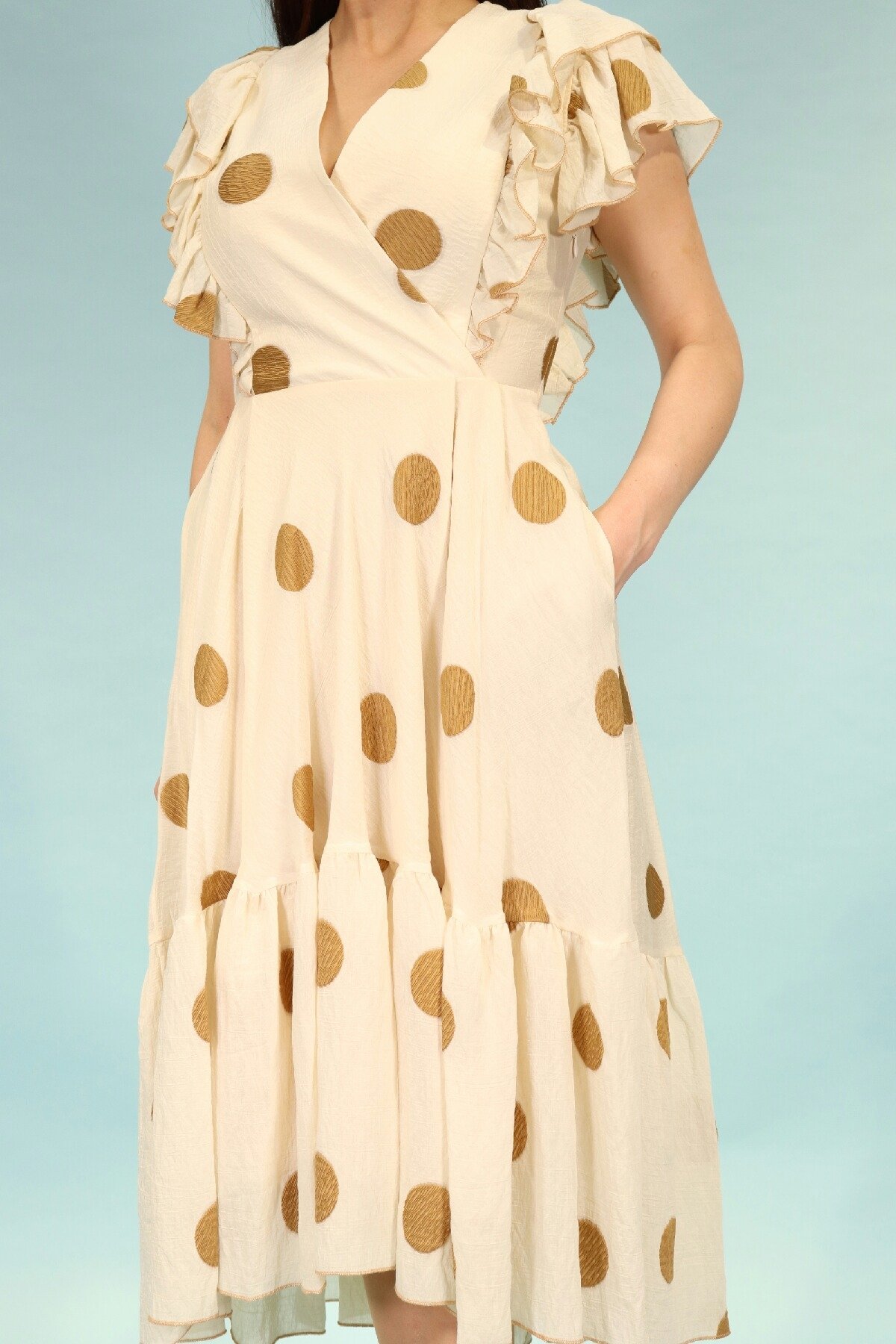 Day Dresses Medium-Beige