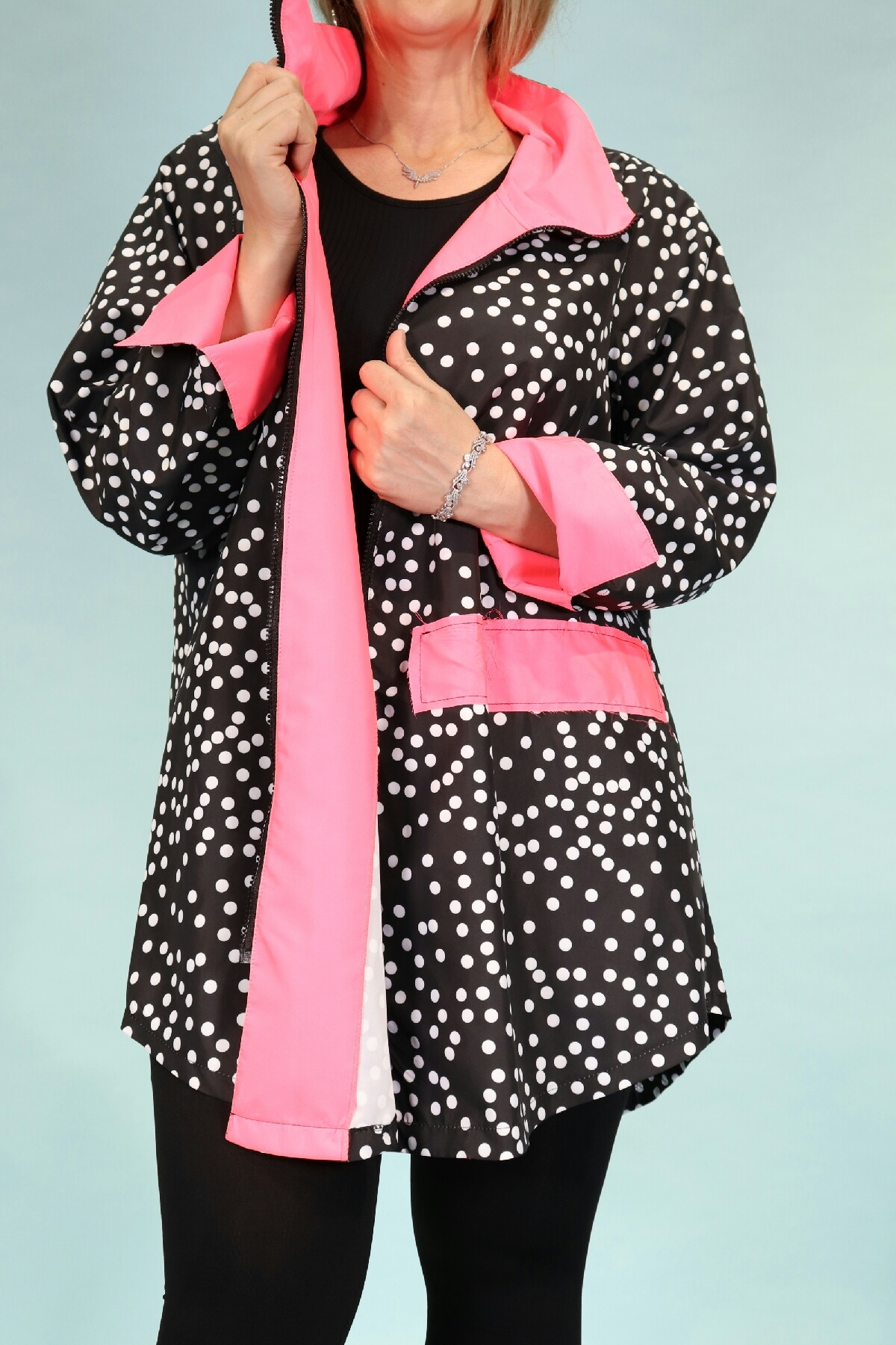 Trench Coats-Pink