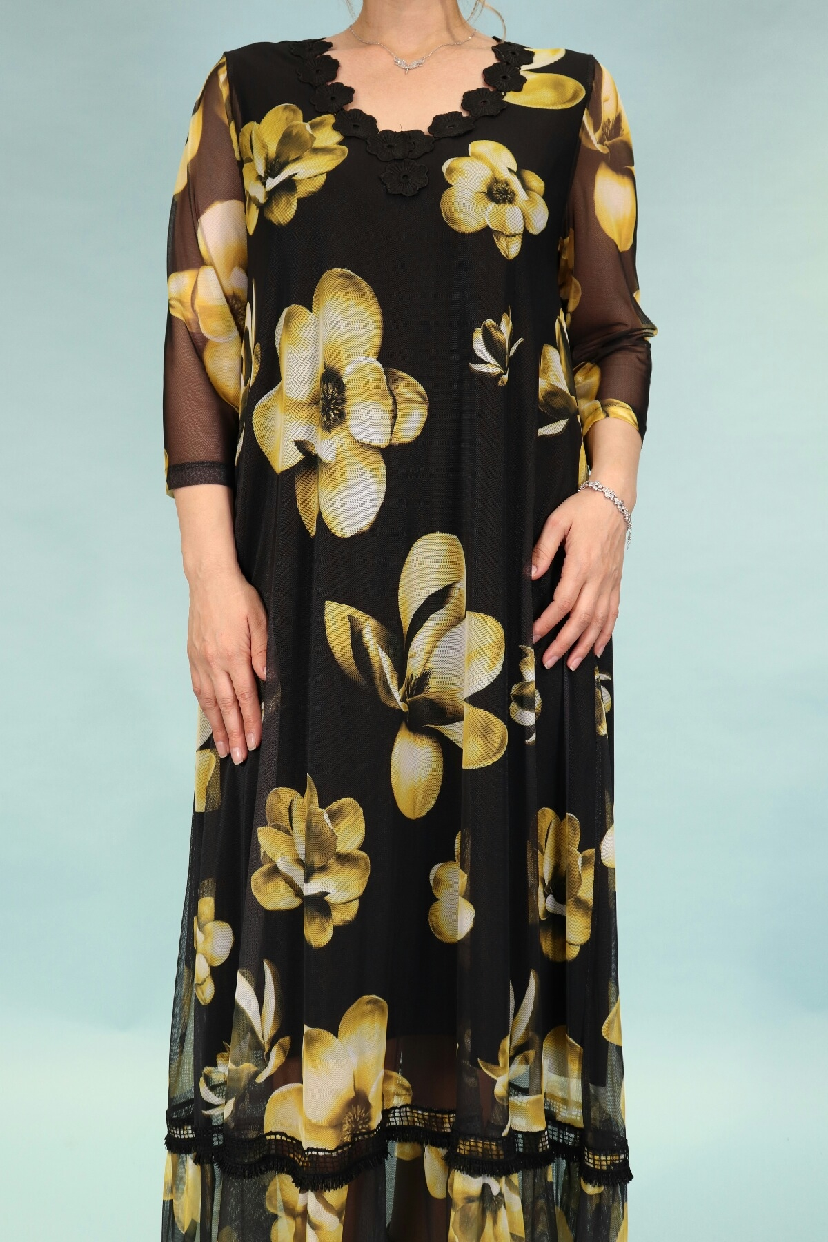 Day Dresses Long-Yellow