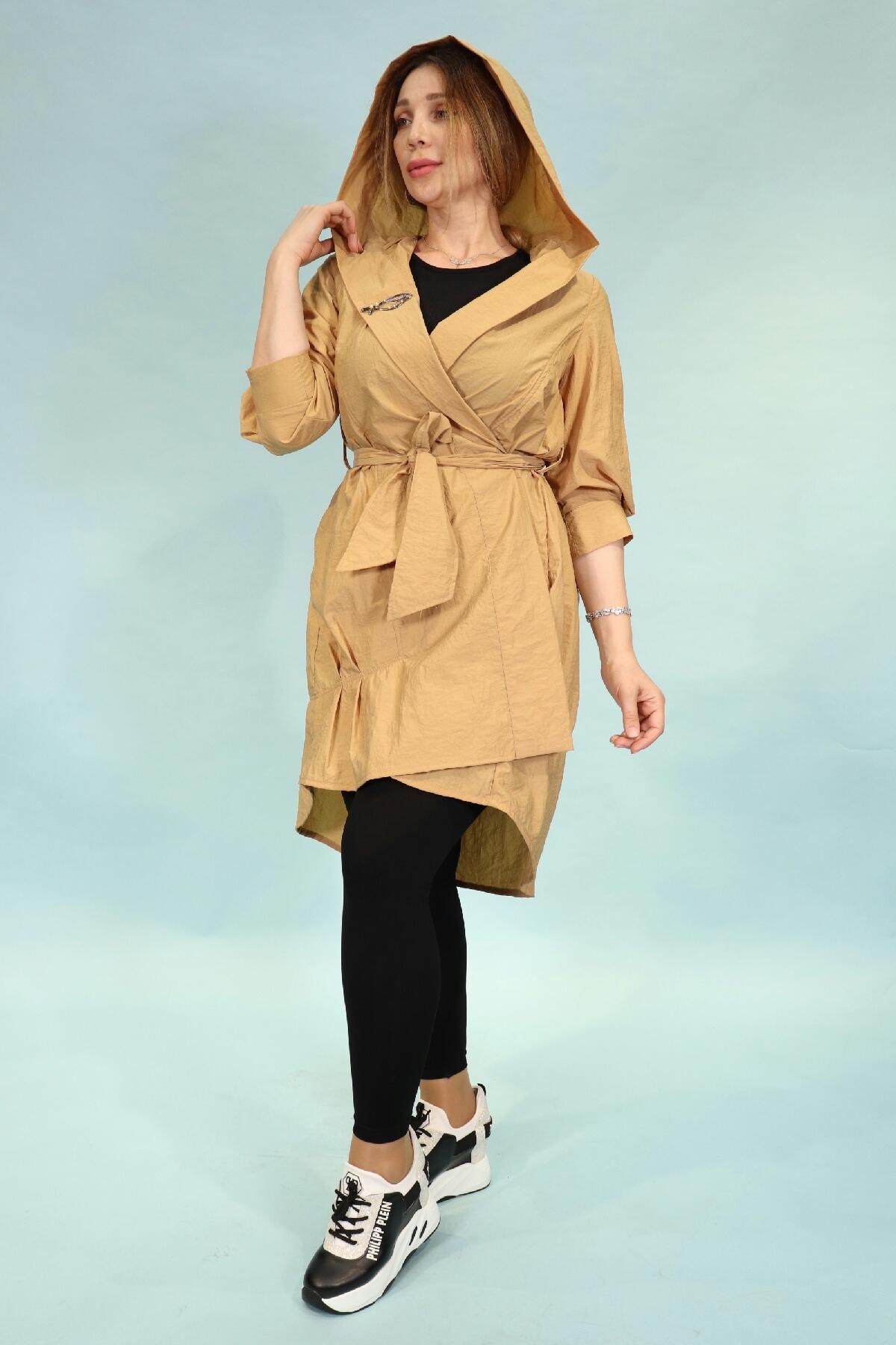 Trench Coats-Camel