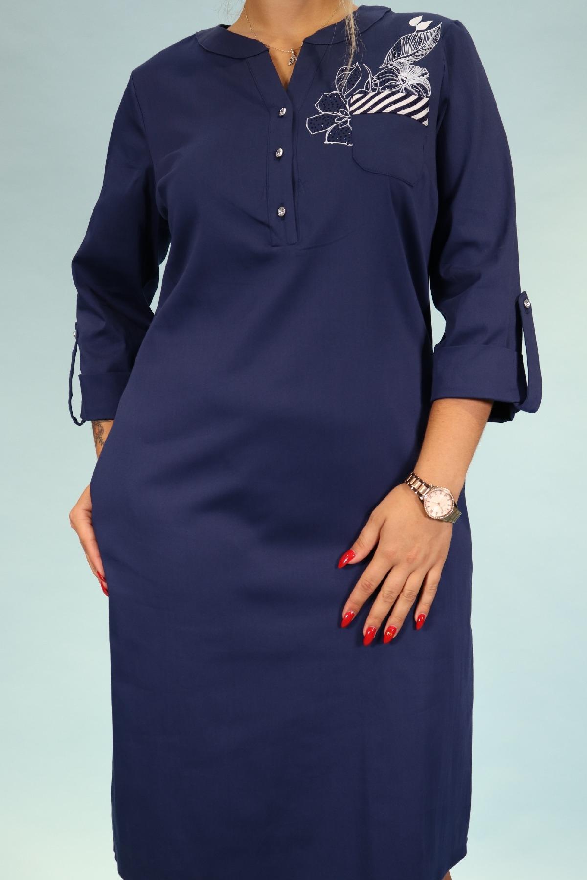 Day Dresses Medium-Dark Blue