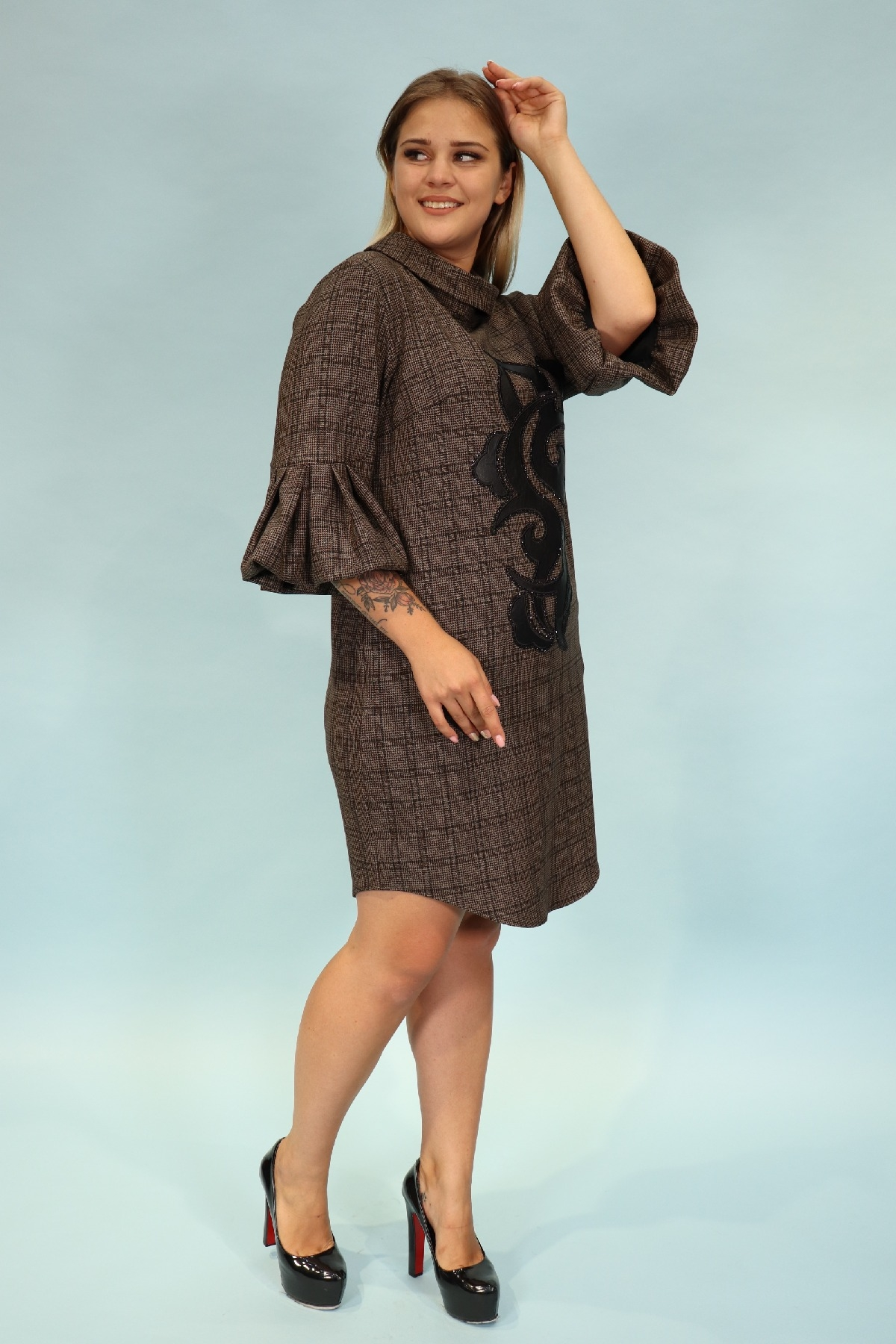 Day Dresses Medium-Brown