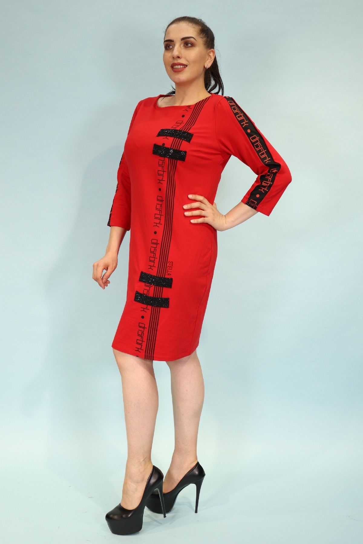 Day Dresses Medium-Red