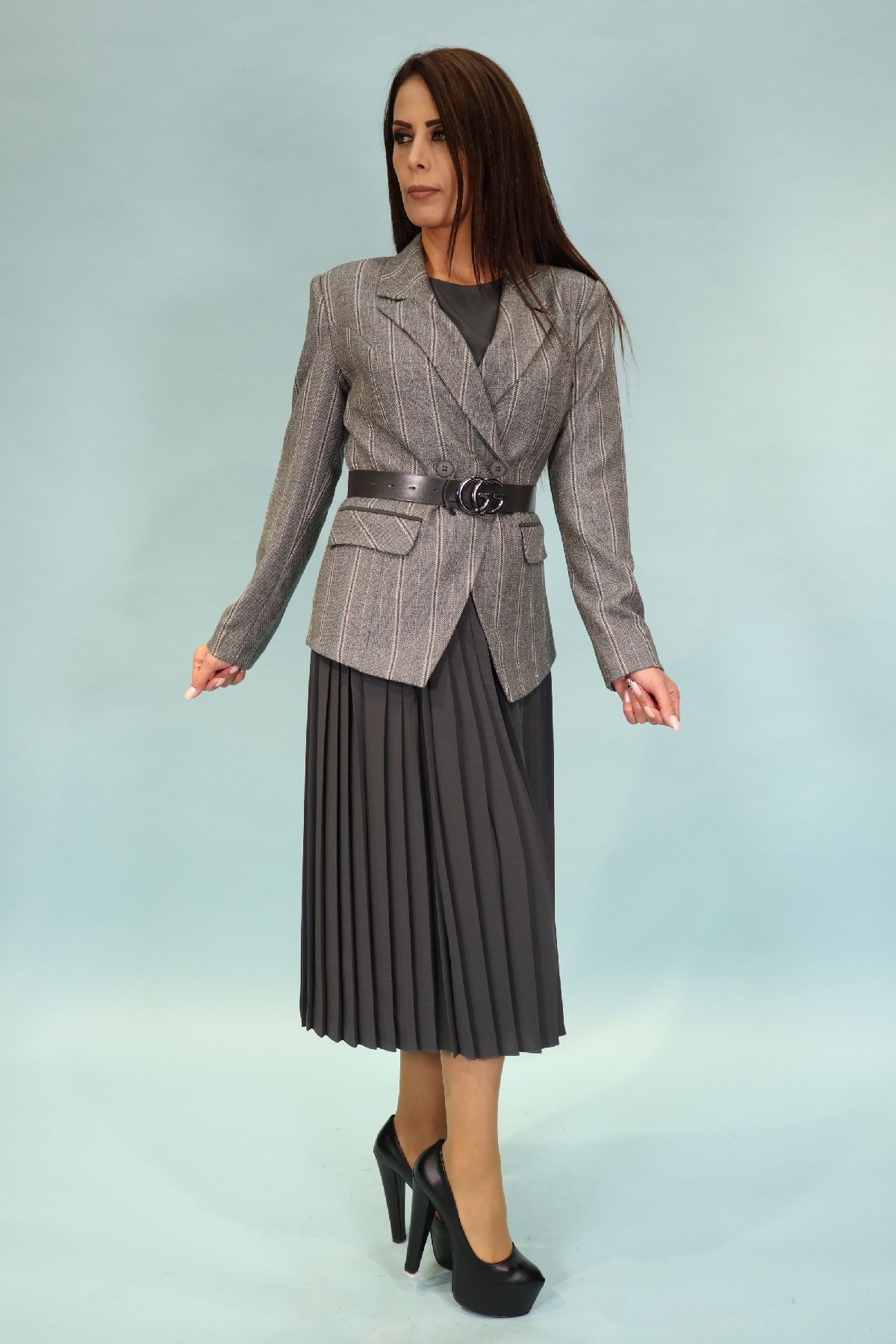 Two-Piece Suit-Grey