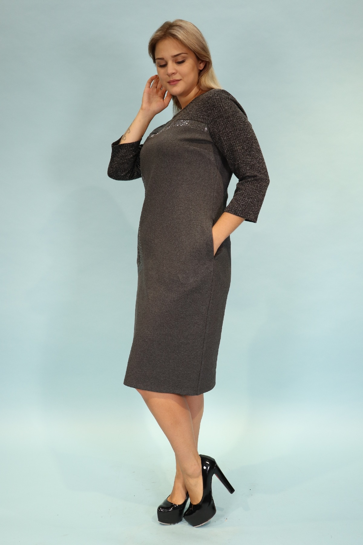 Day Dresses Medium-Grey