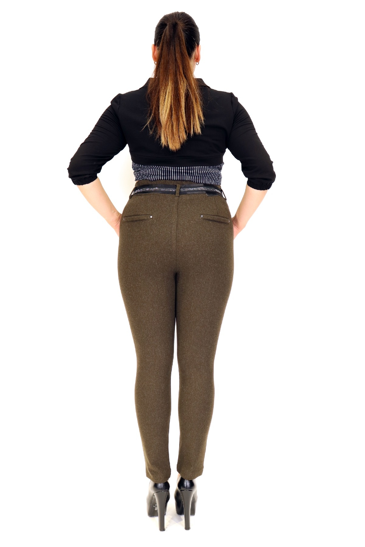women pants-Khaki
