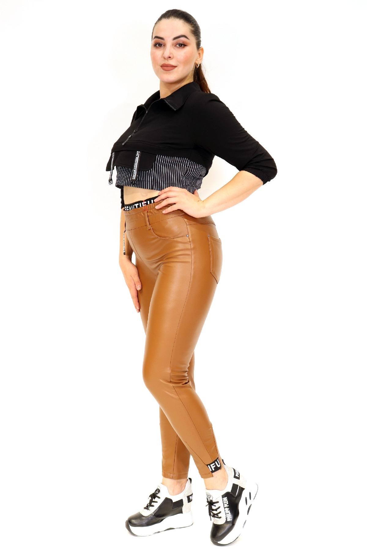 women pants-tan
