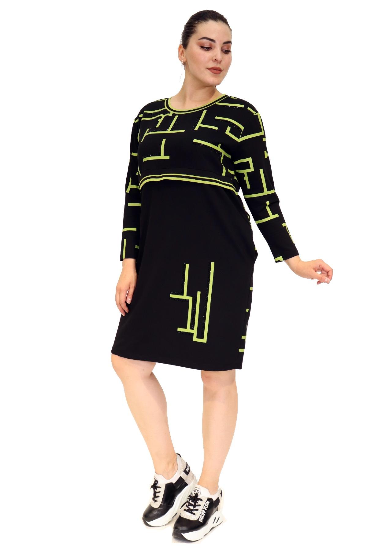 Day Dresses Medium-Neon Green