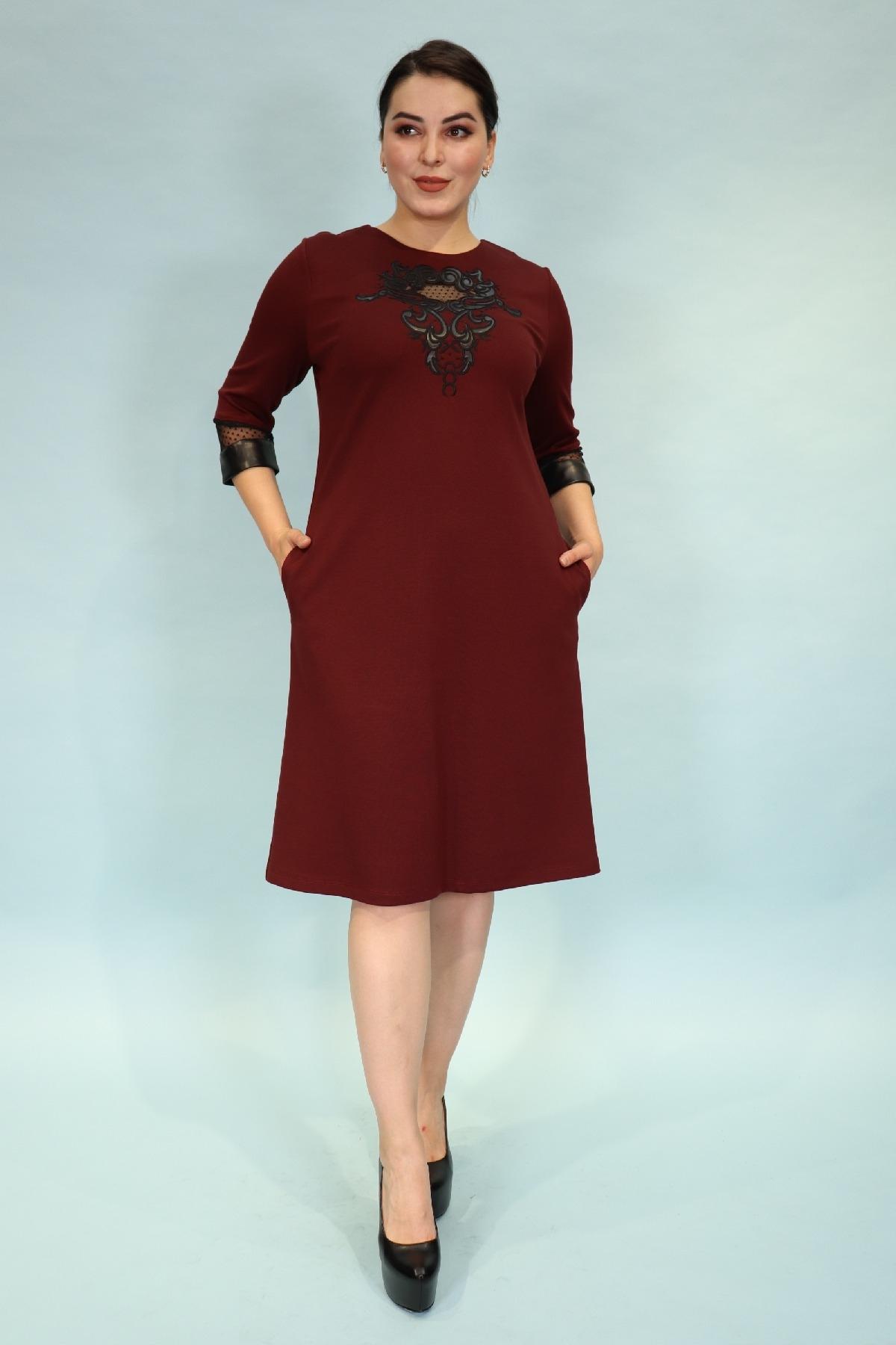 Day Dresses Medium-Claret Red