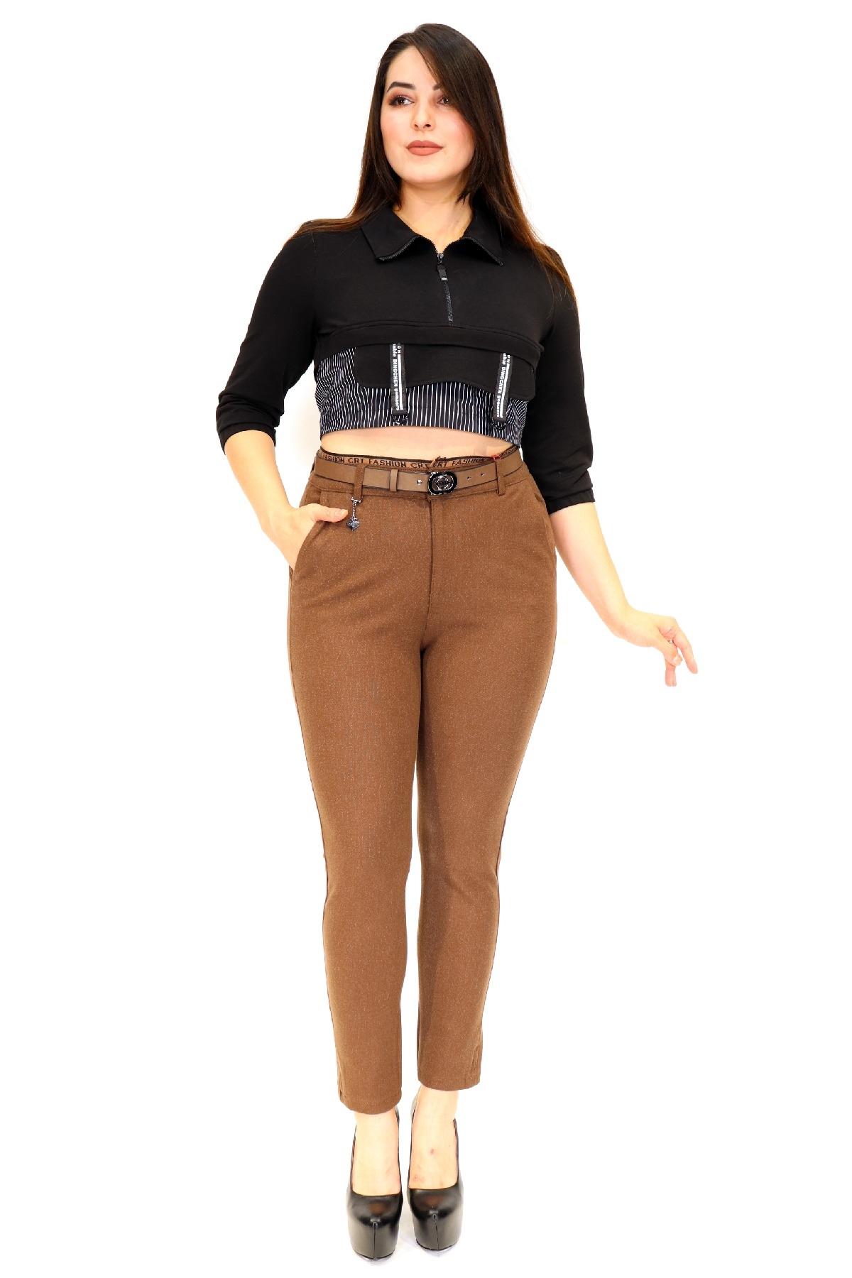 women pants-Camel