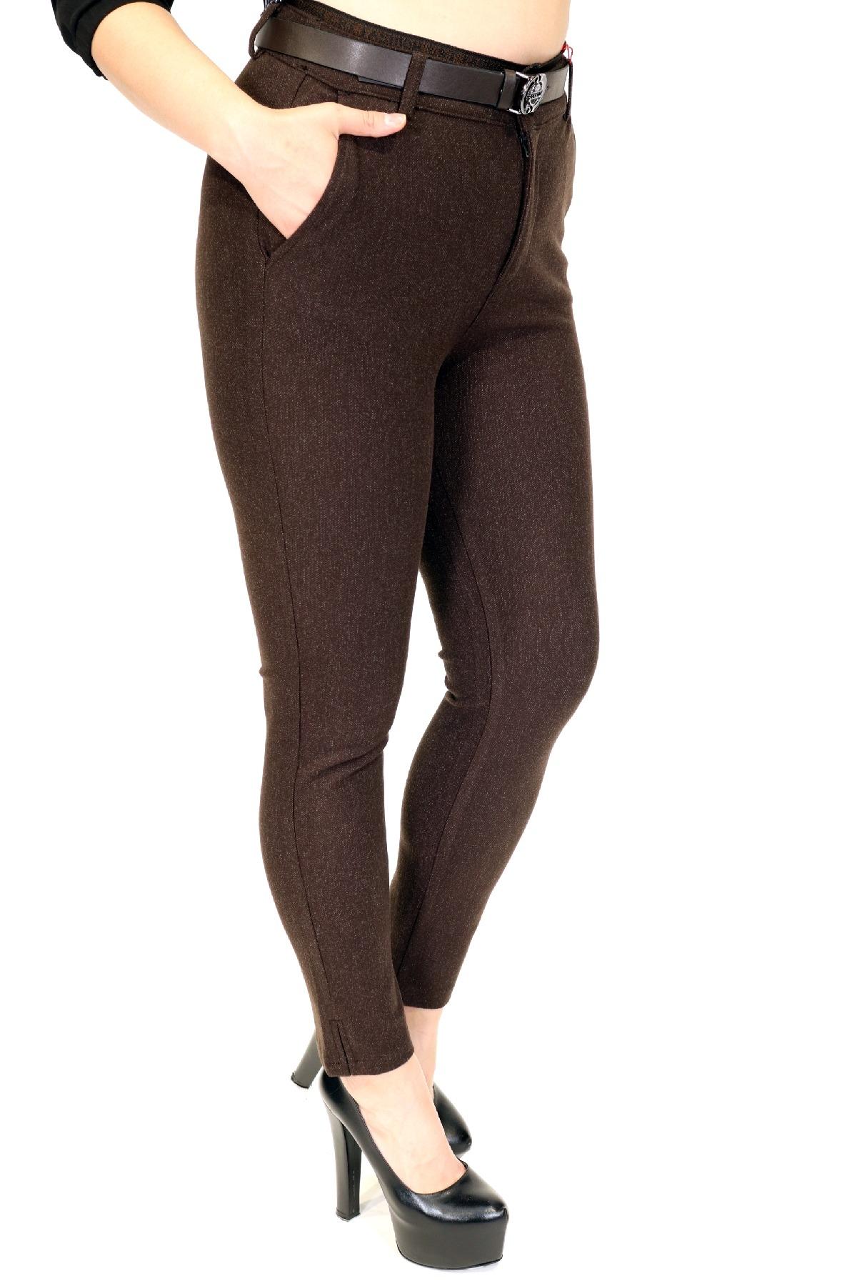 women pants-Brown