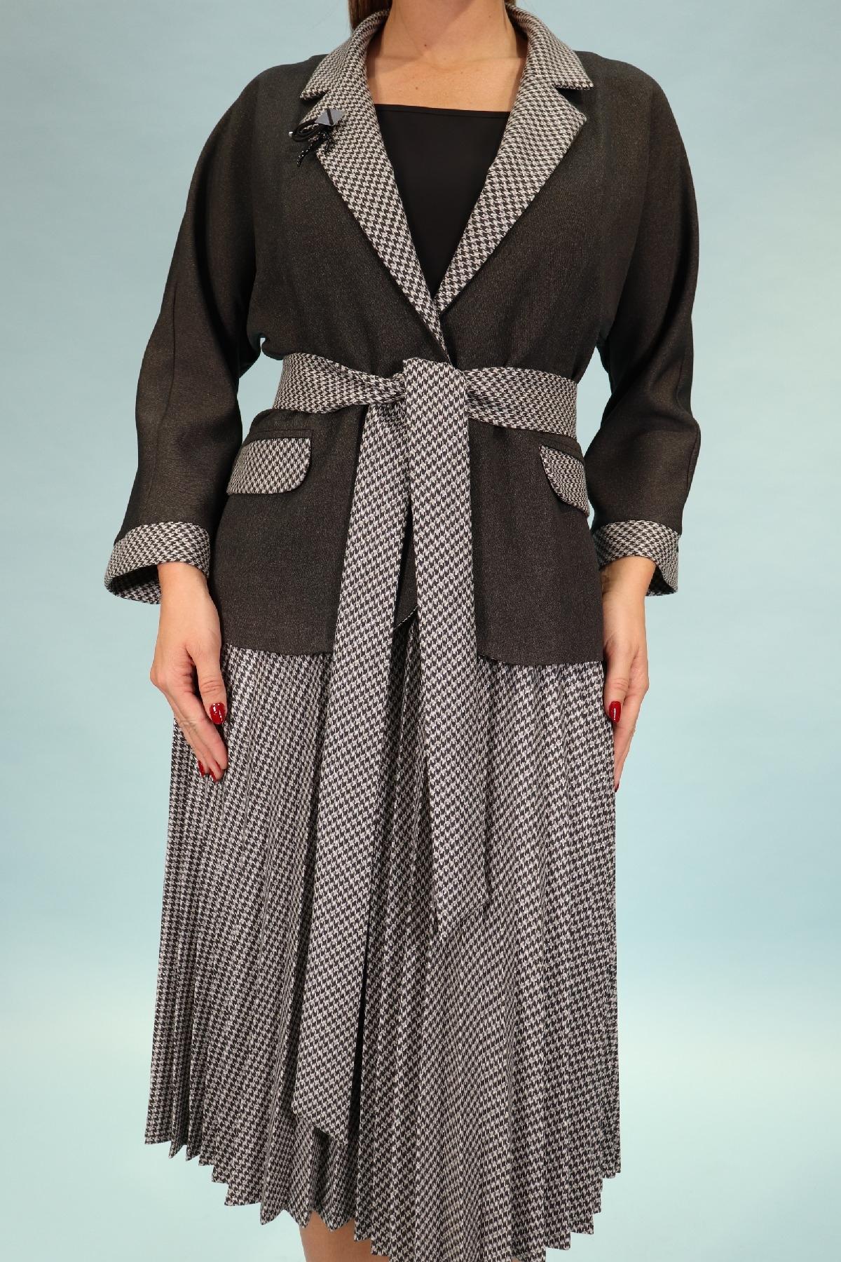 Two-Piece Suit-Khaki