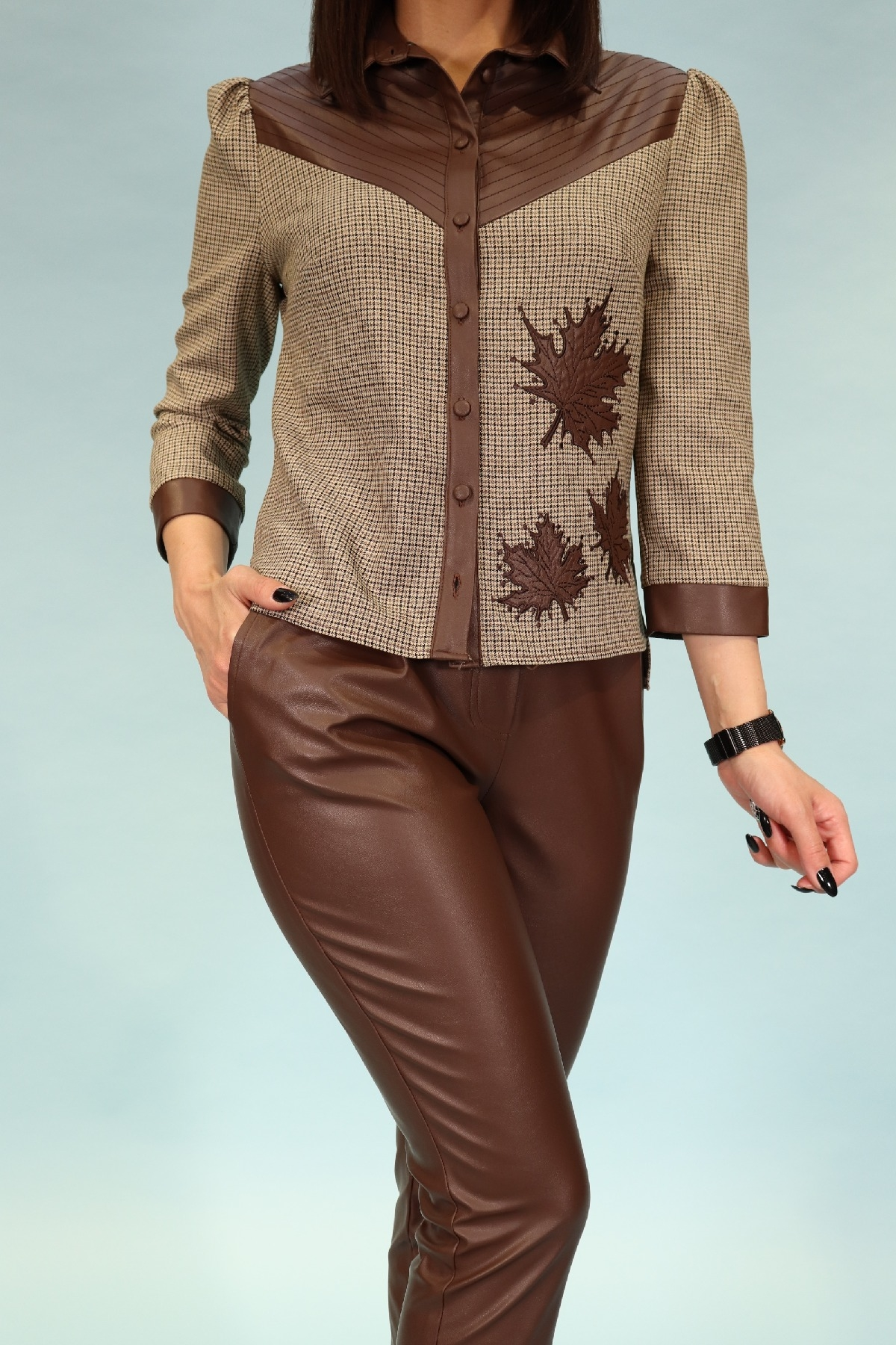 Two-Piece Suit-Brown