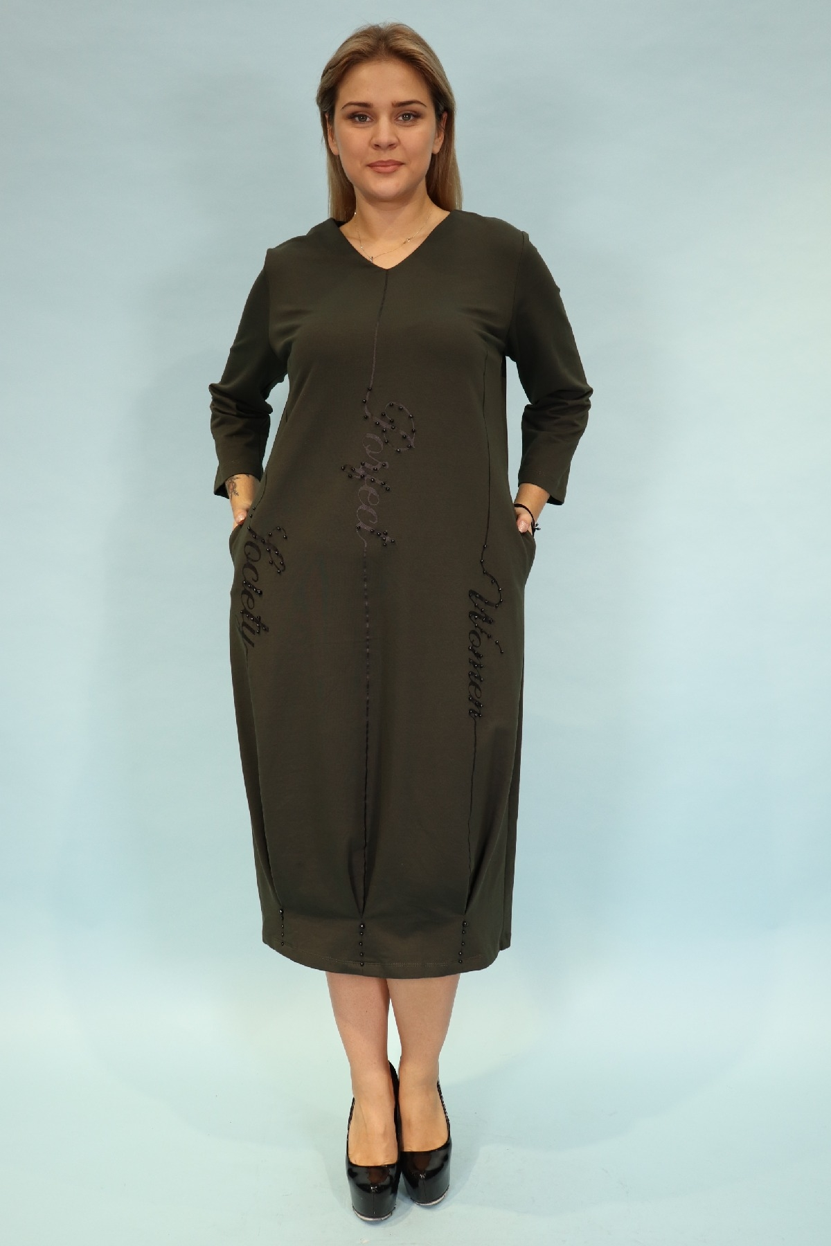 Day Dresses Medium-Khaki