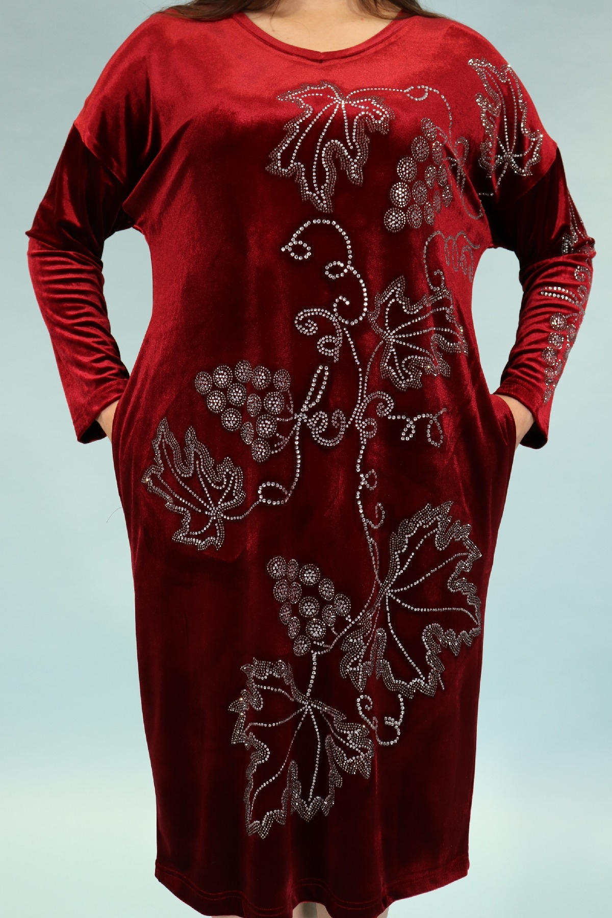 Day Dresses Medium-Claret Red