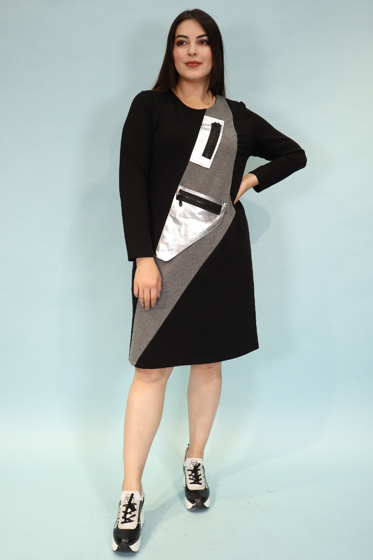 Day Dresses Medium-Anthracite