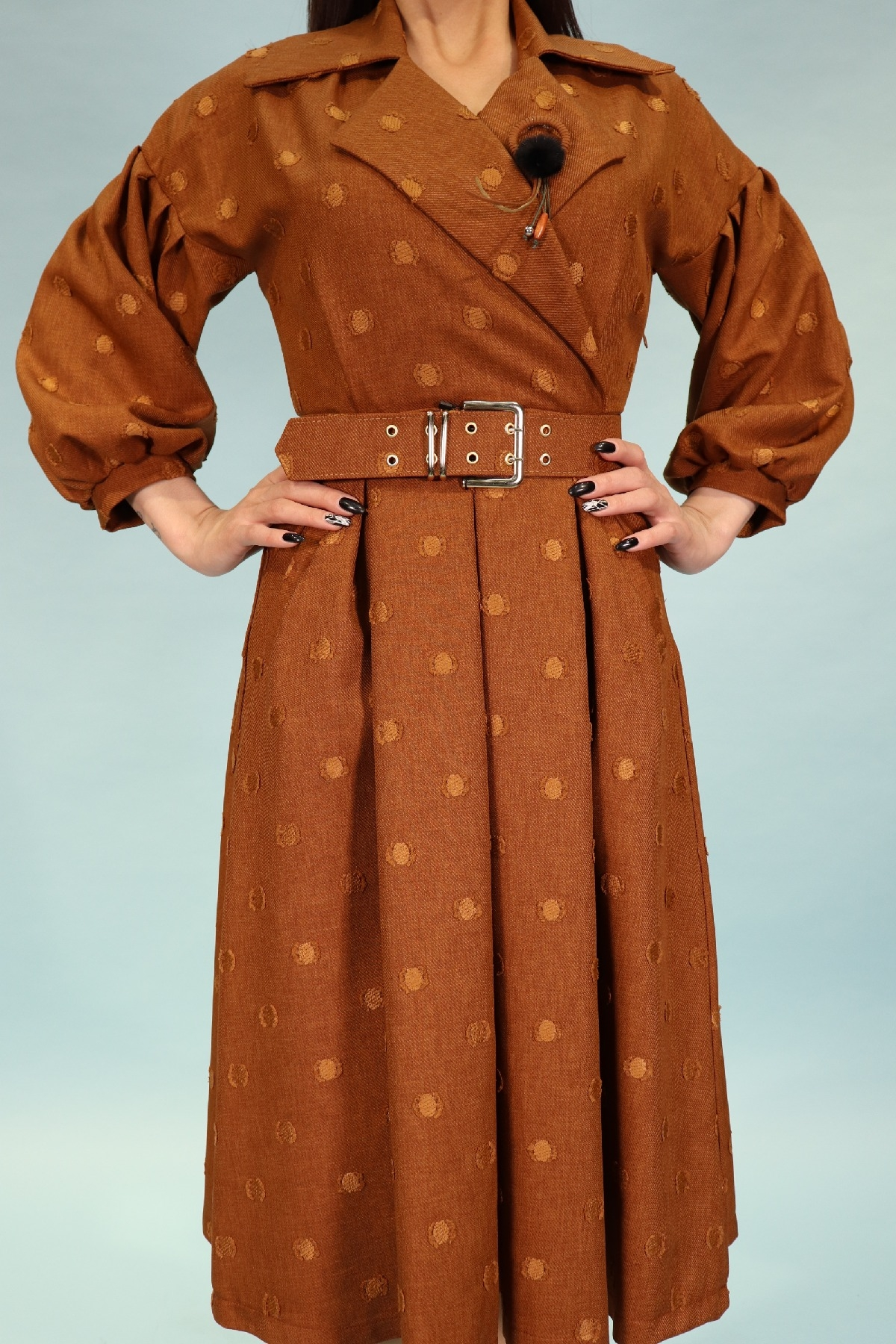 Day Dresses Medium-Terracotta