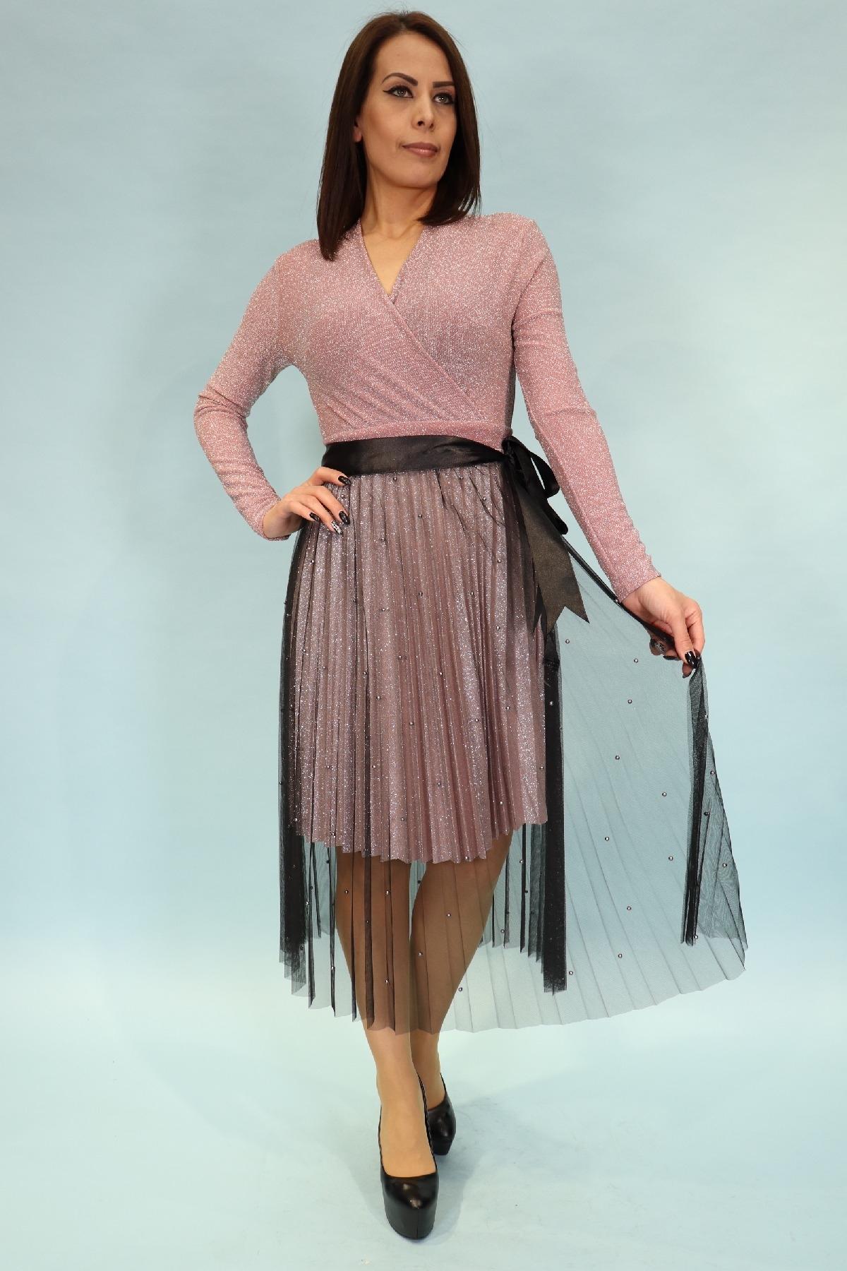 Evening Dress-powder pink