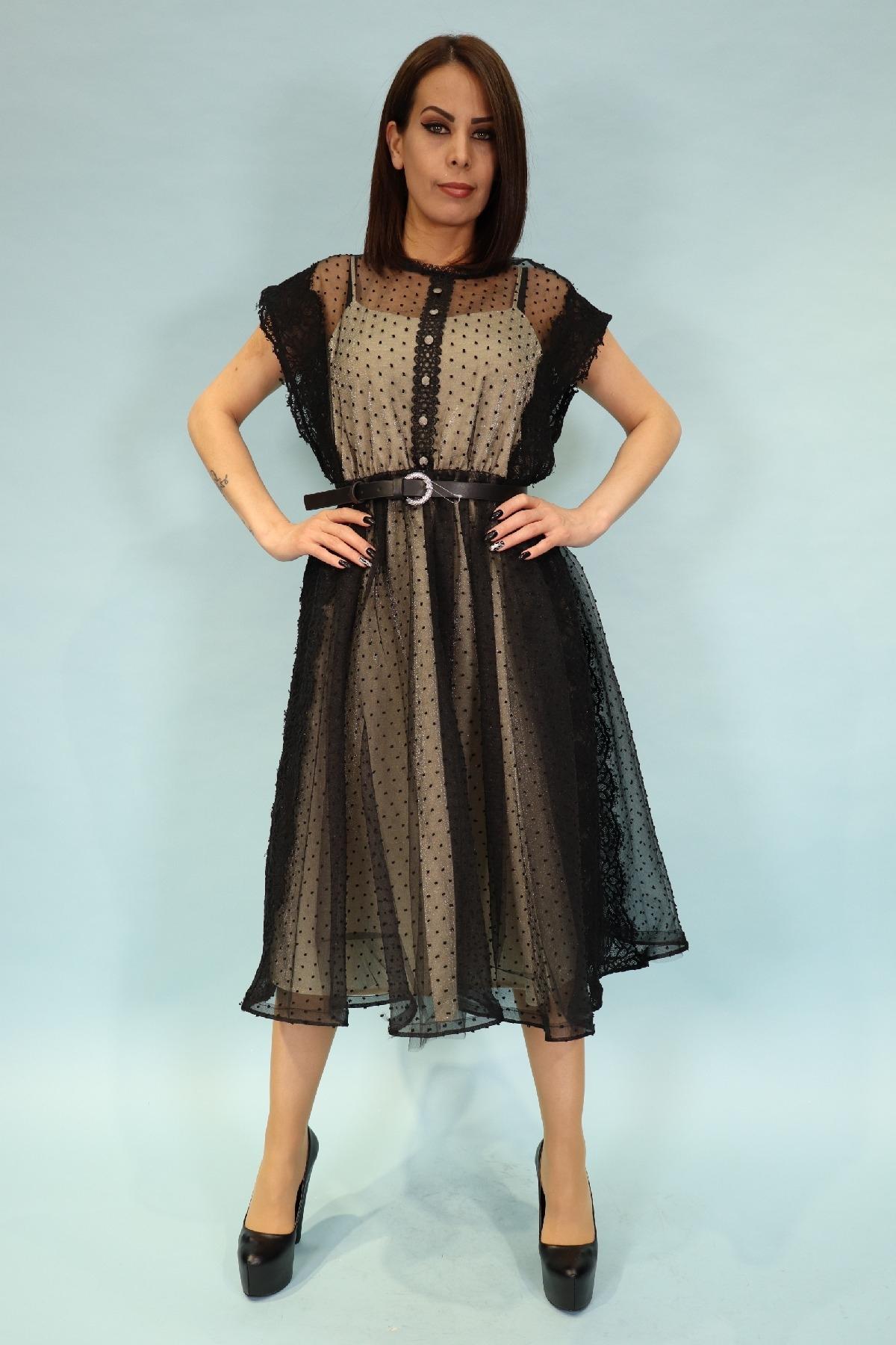 Evening Dress-Beige