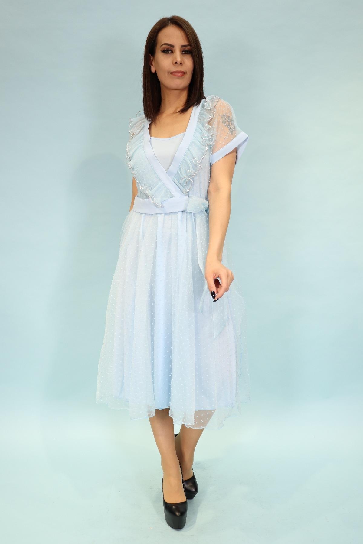 Evening Dress-Blue