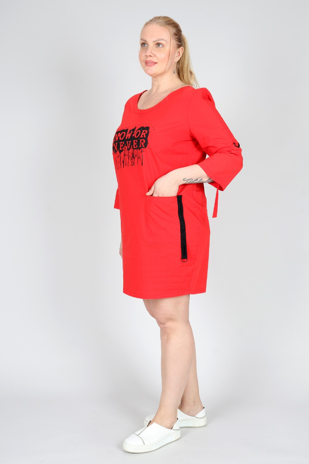 Casual Dresses-Red