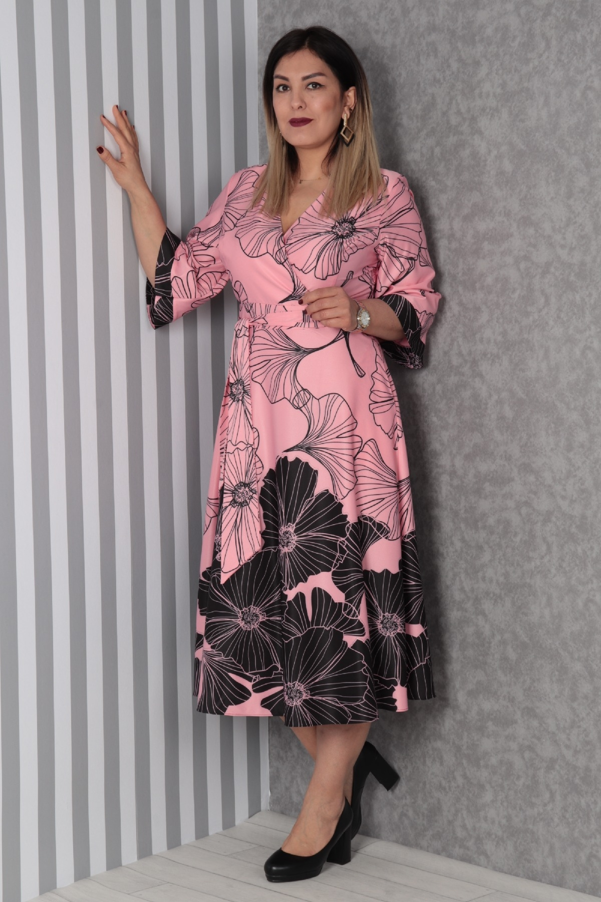 Casual Dresses-Pink