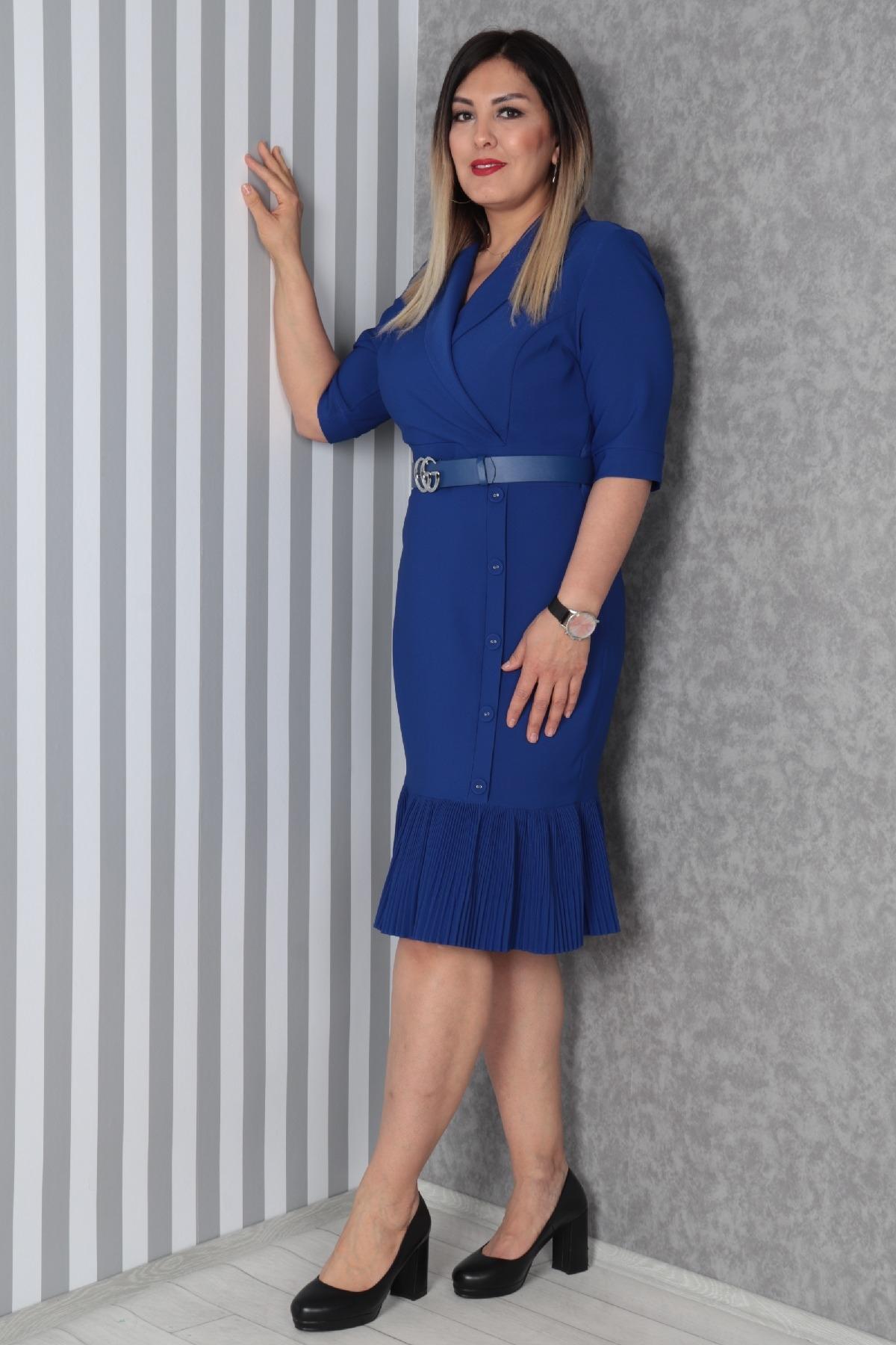 Casual Dresses-Bright Blue