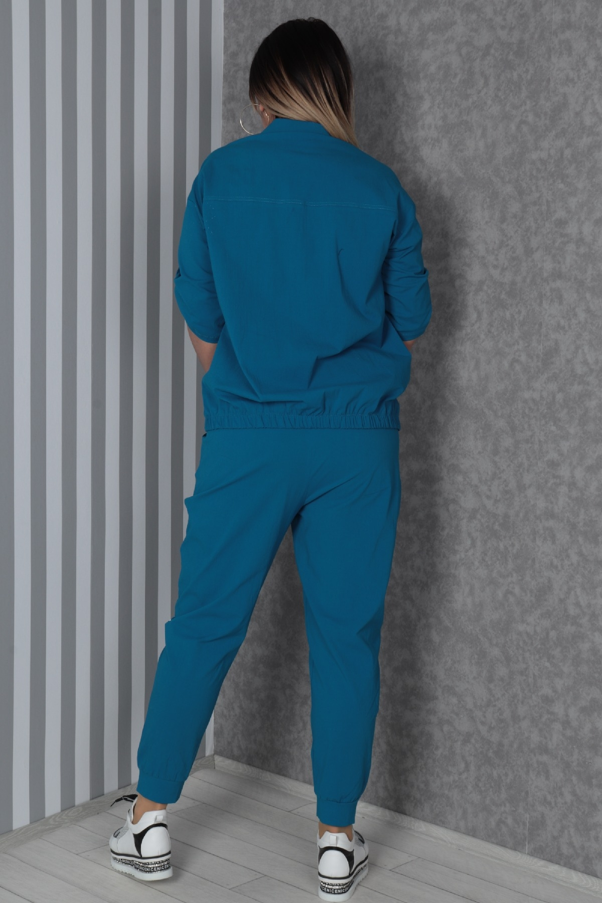 Two-Piece Suit-Turquoise
