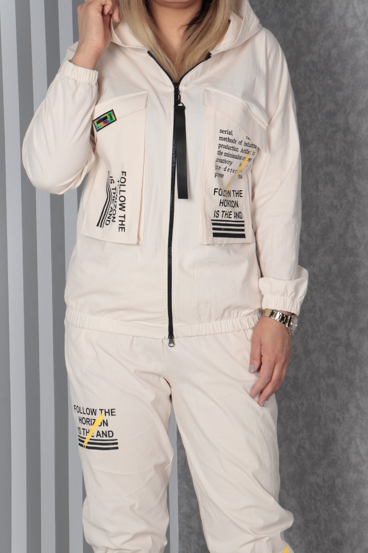 Two-Piece Suit-Beige