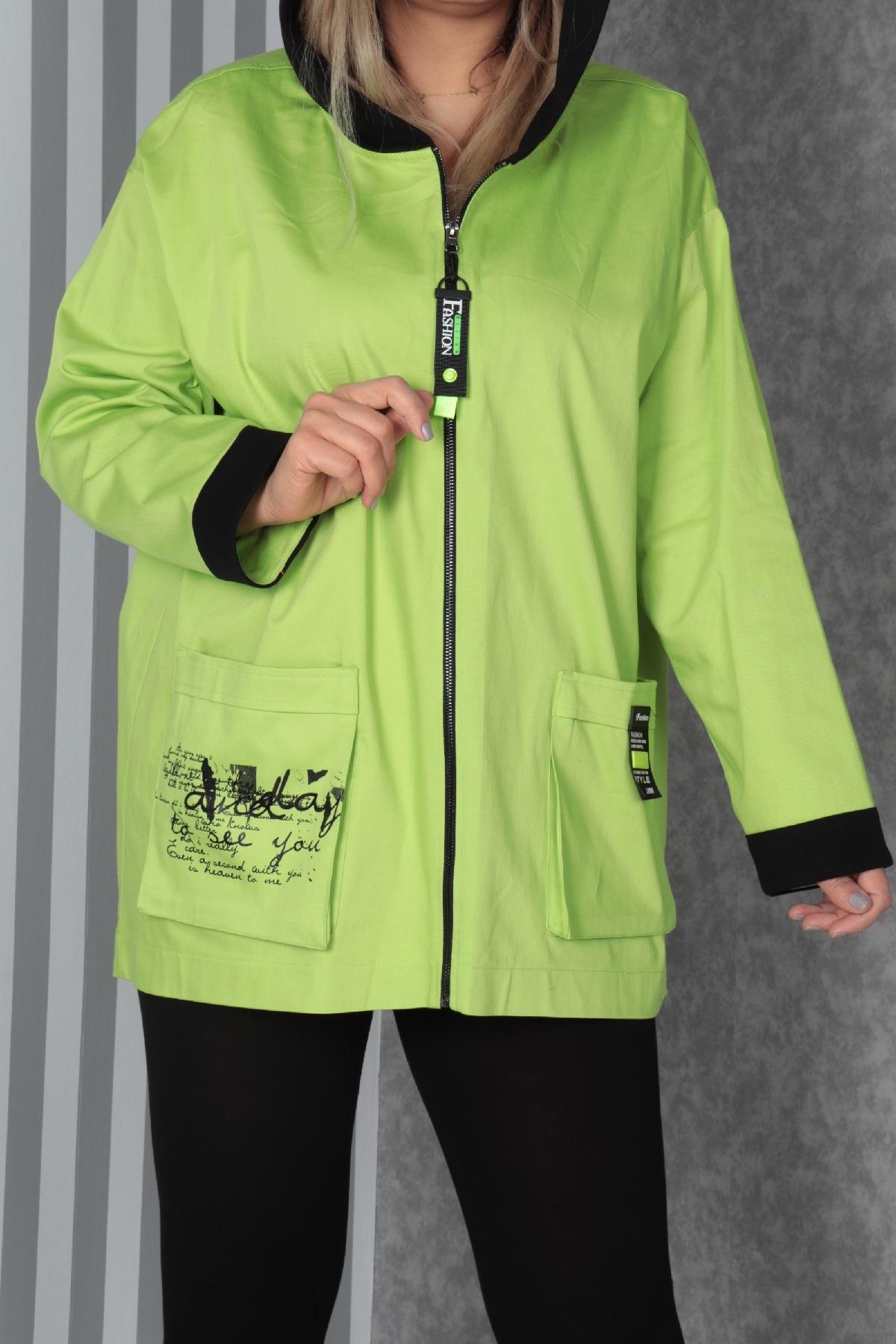 Coats-Neon Green