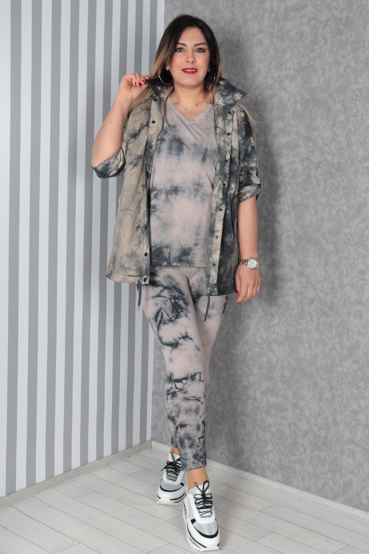 Women's 3 Piece Suits-Grey