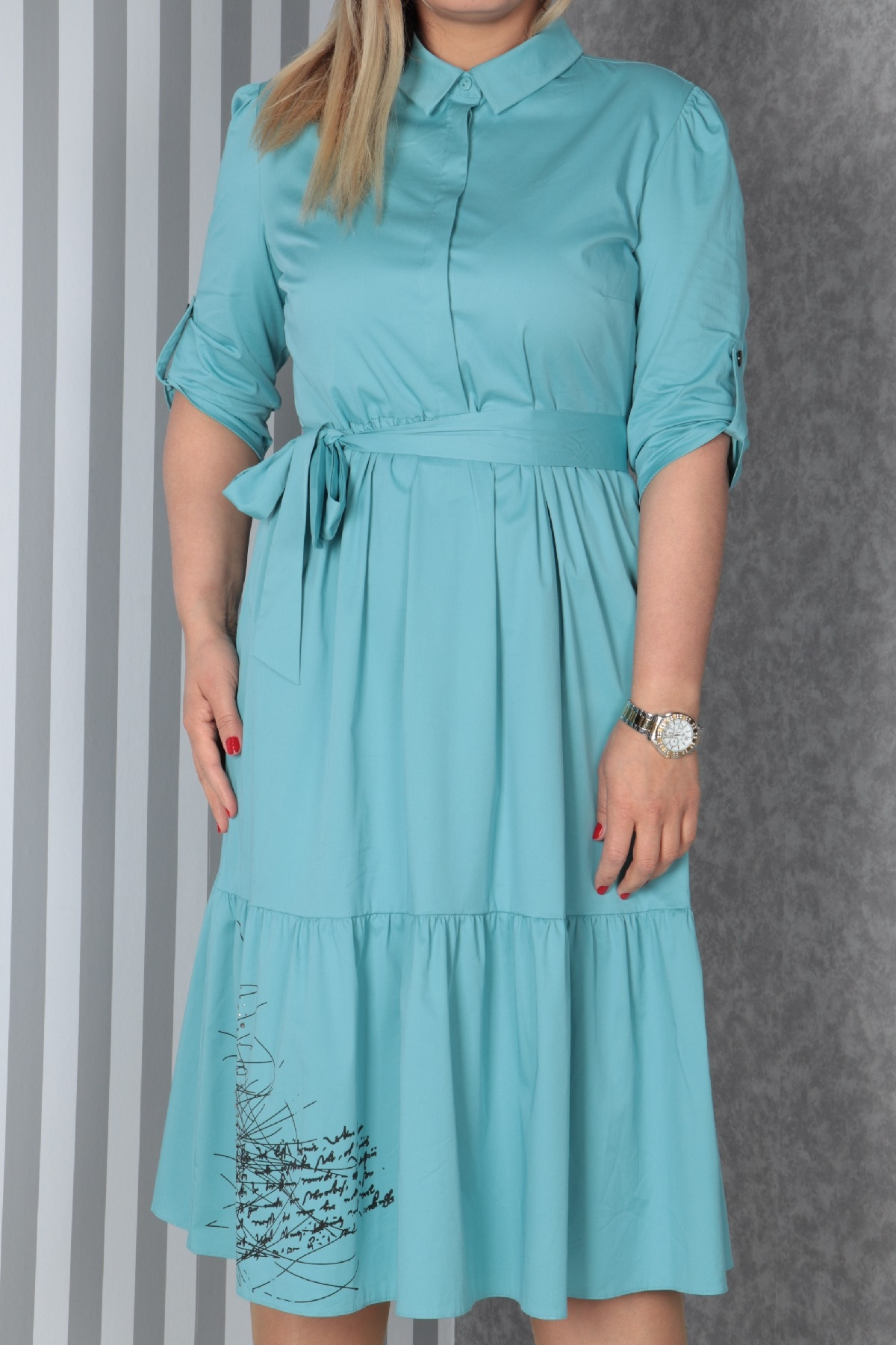 Casual Long Dresses-Turquoise