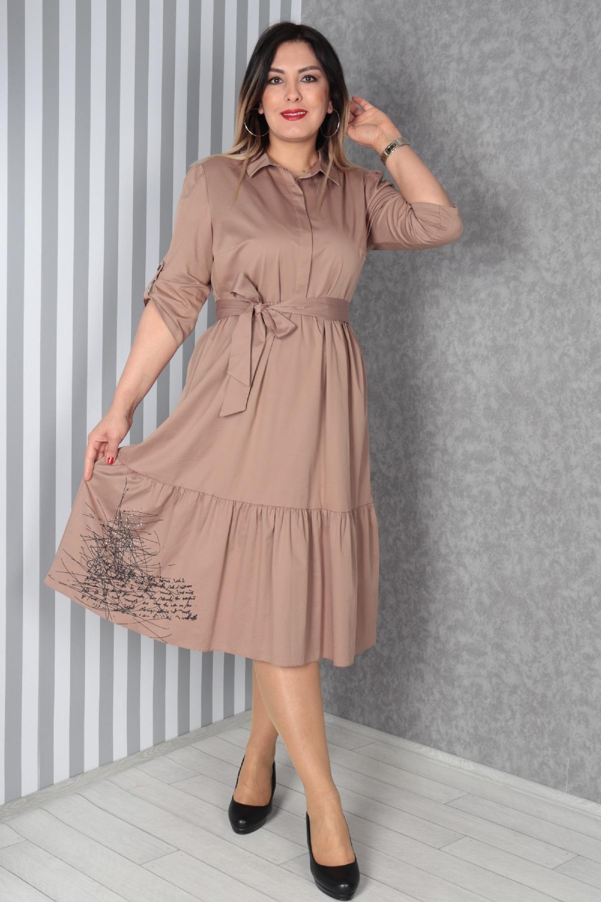 Casual Long Dresses-Mink