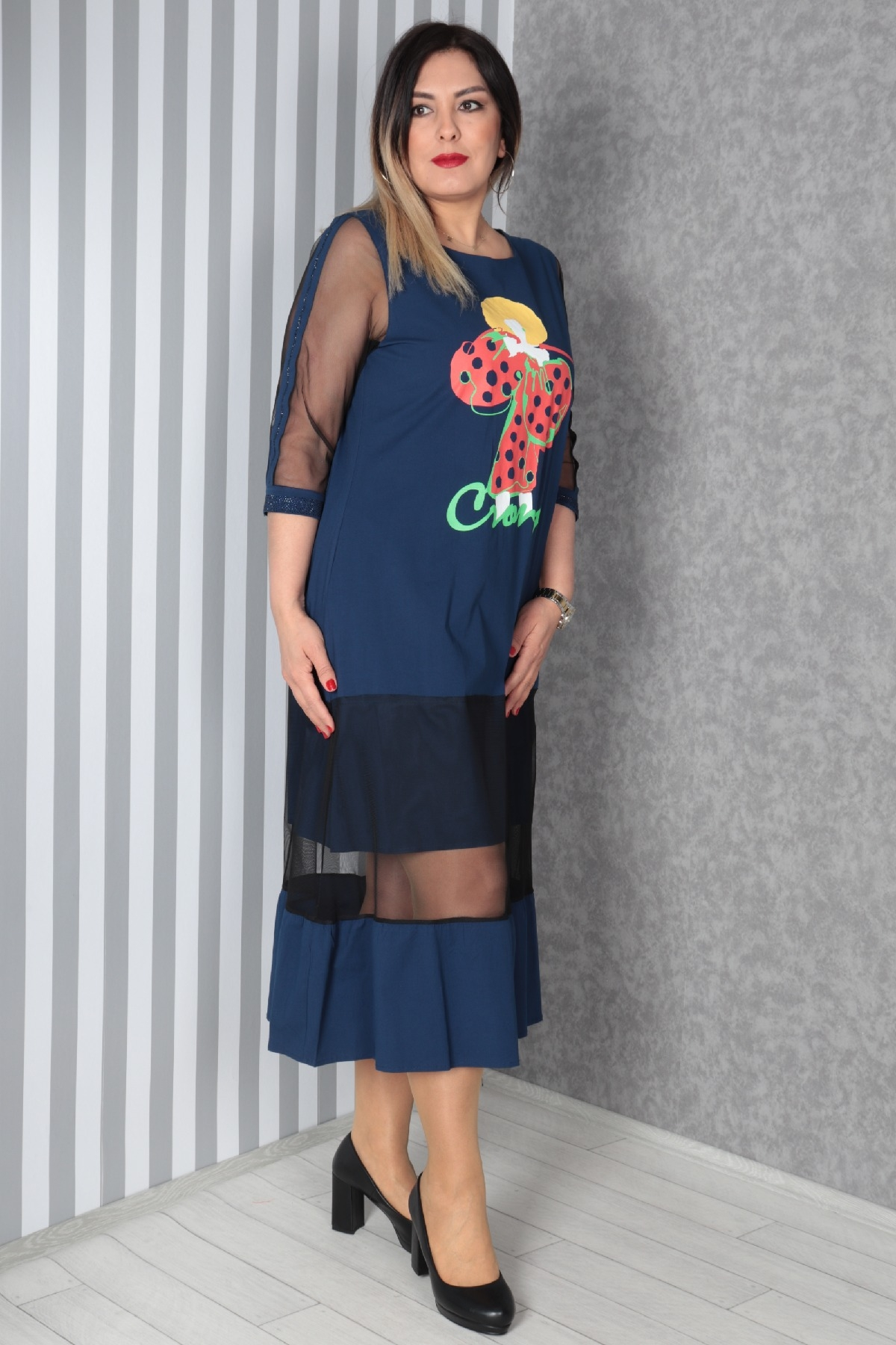 Casual Long Dresses-Dark Blue