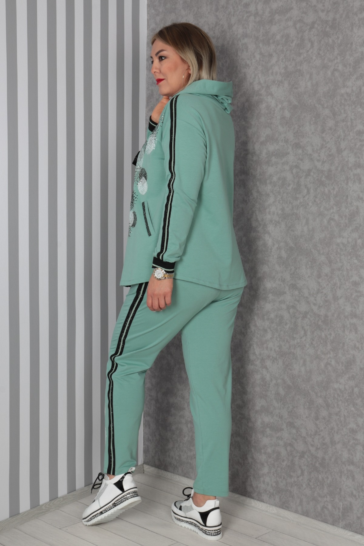 Two-Piece Suit-Light green