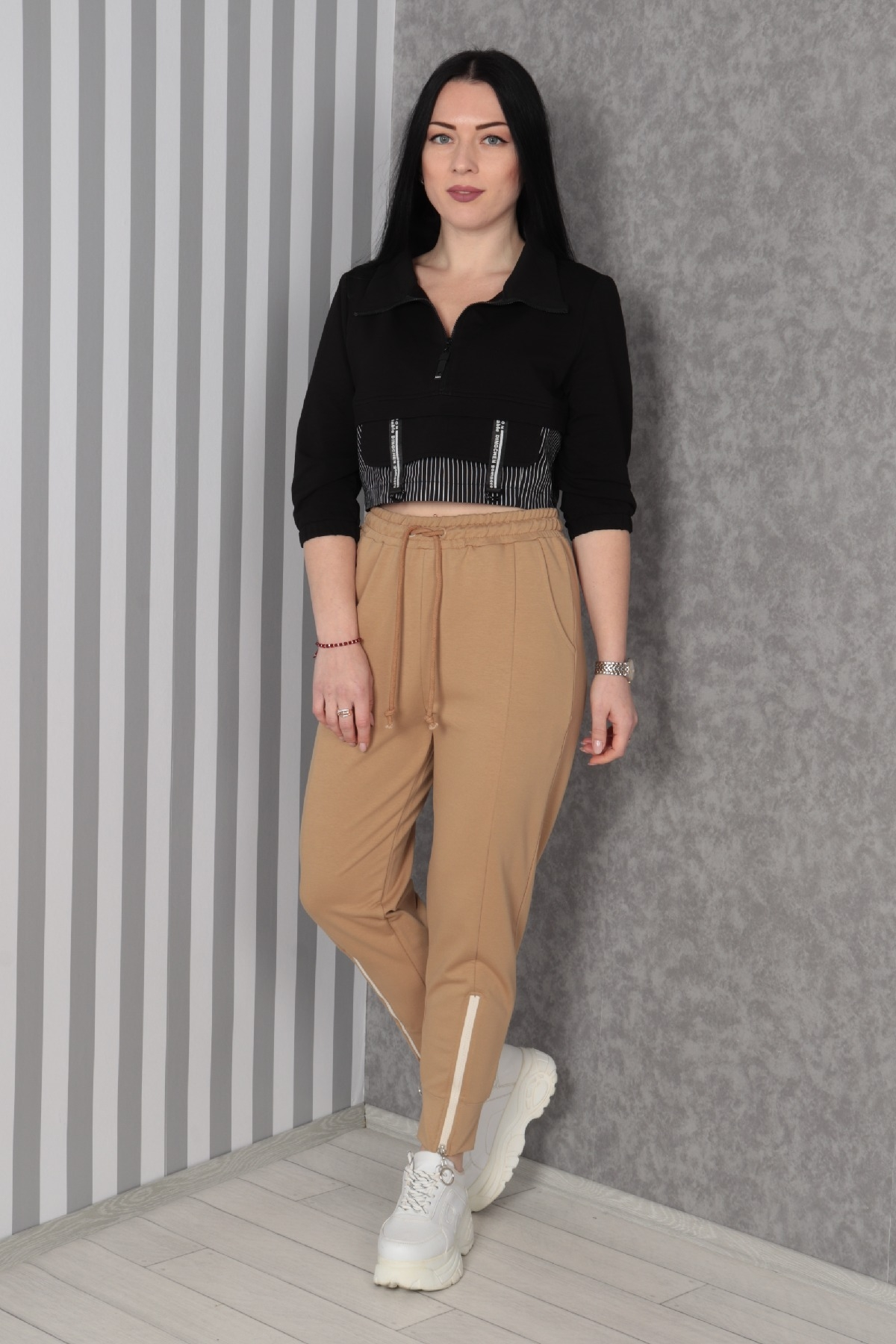 women pants-Mink