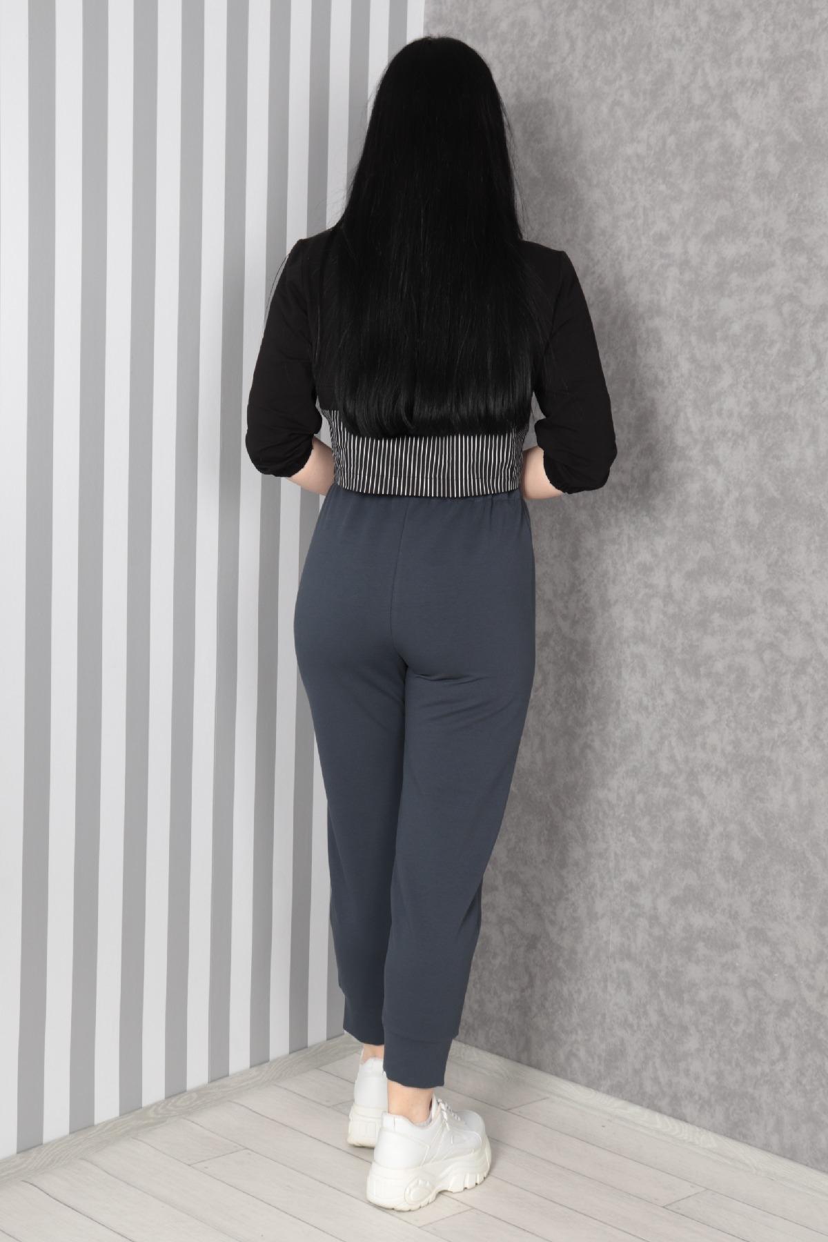 women pants-Grey