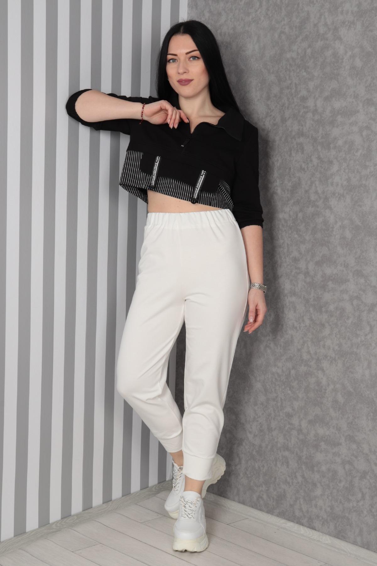 women pants-Ecru