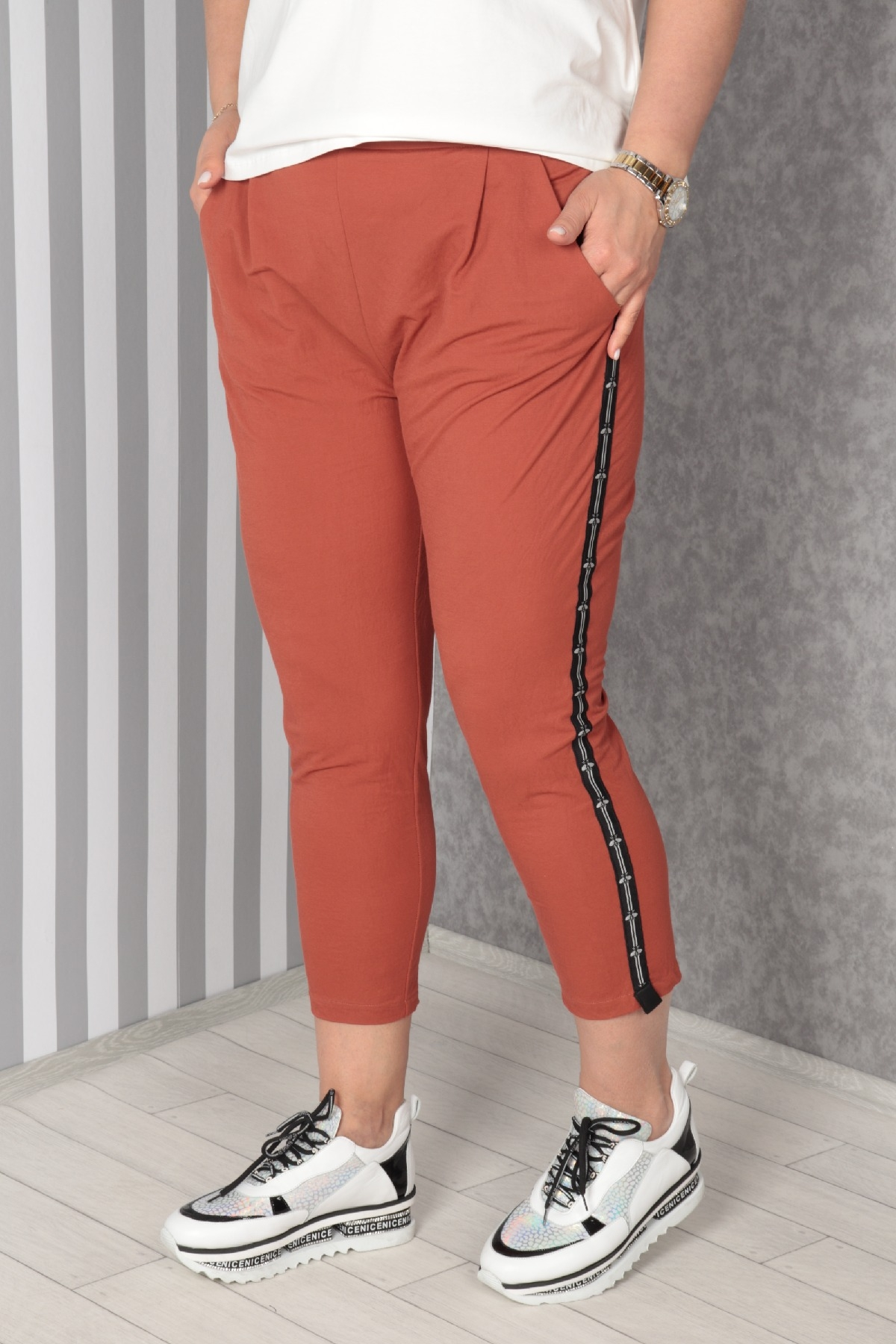 women pants-Terracotta