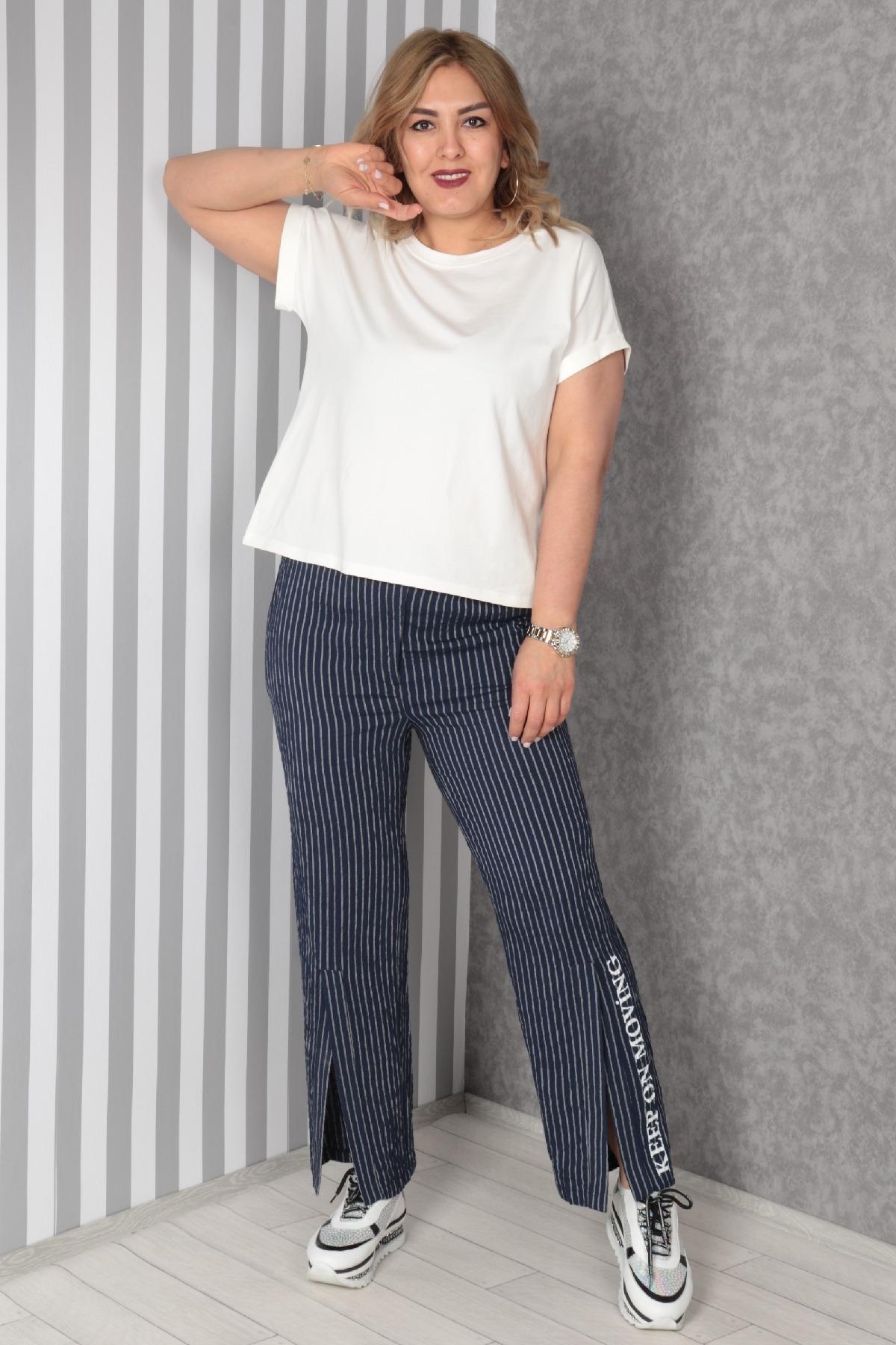 women pants-Dark Blue