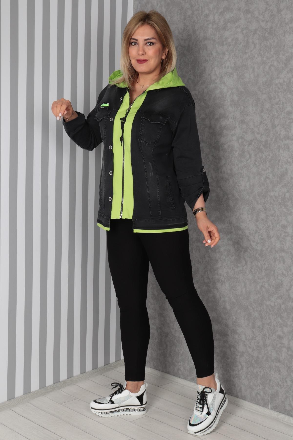 Trench Coats-Neon Green