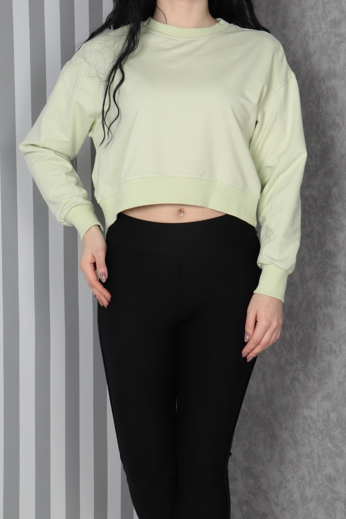 Sweatshirt-Light green
