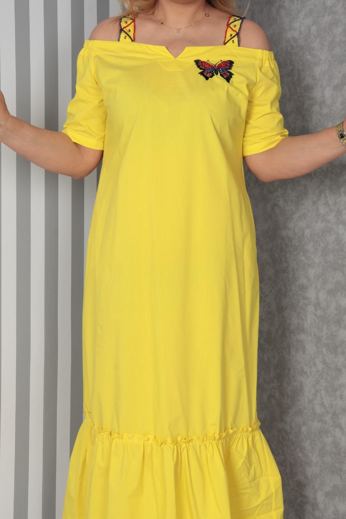 Casual Long Dresses-Yellow