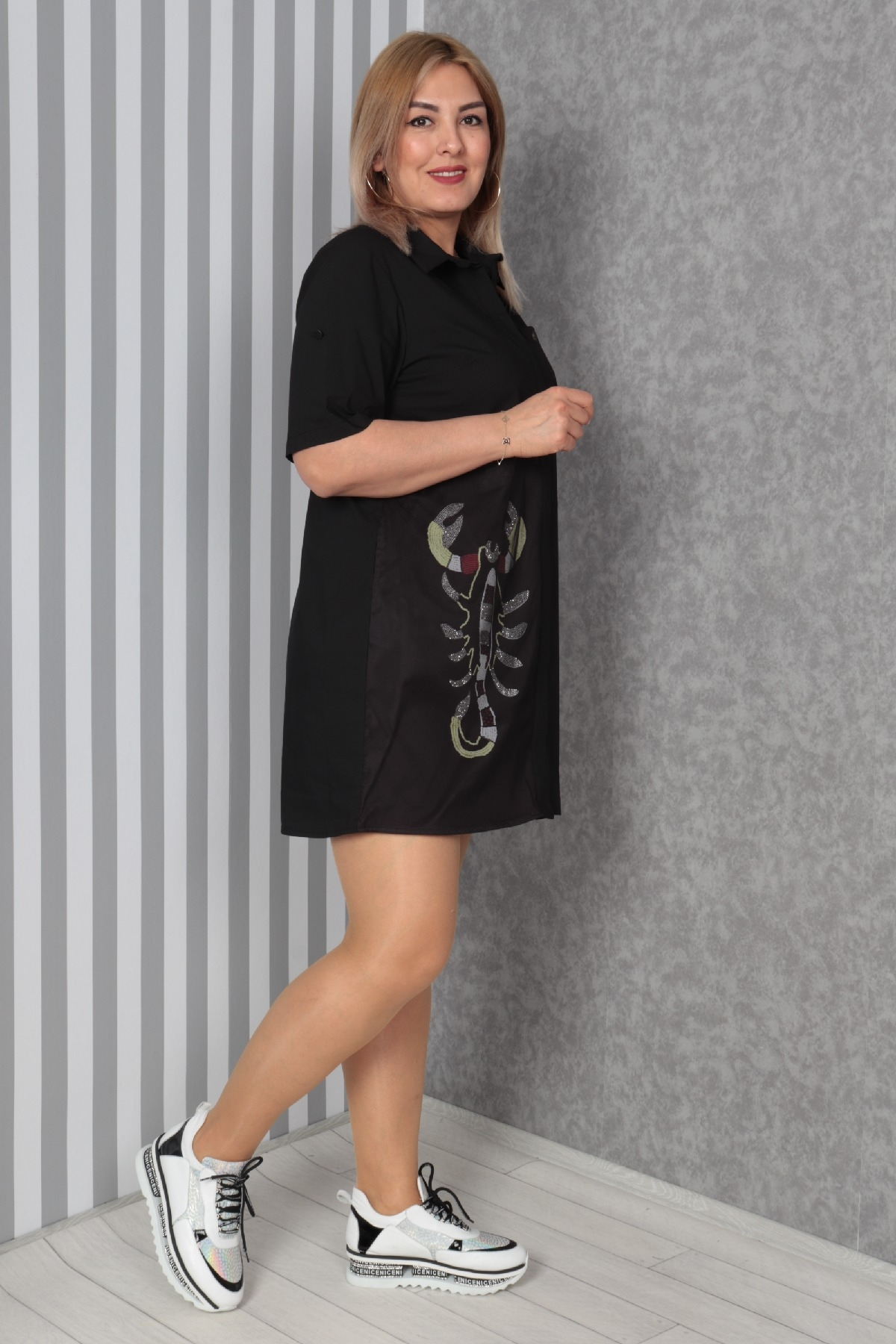 Casual Dresses-Black