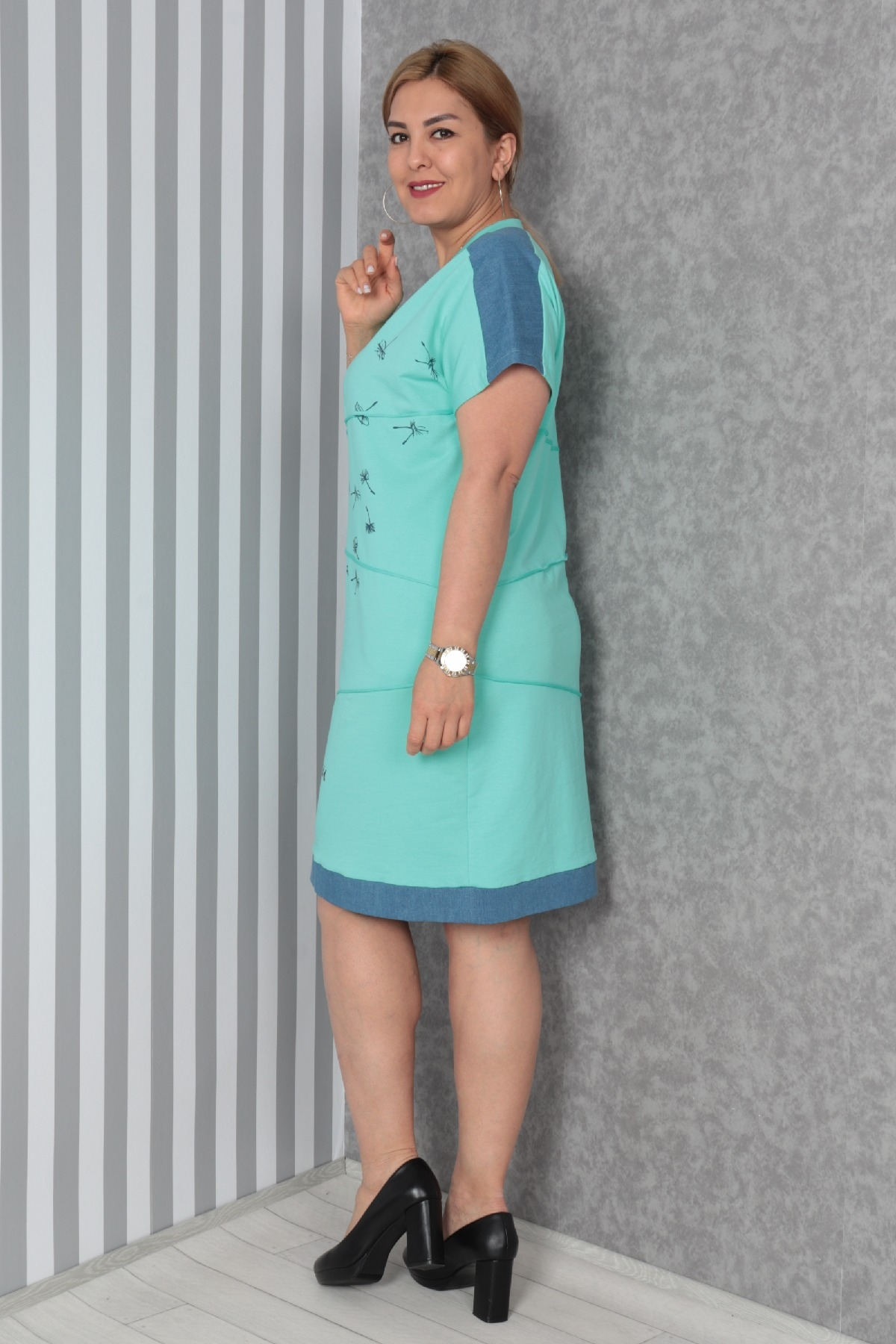 Casual Dresses-Turquoise